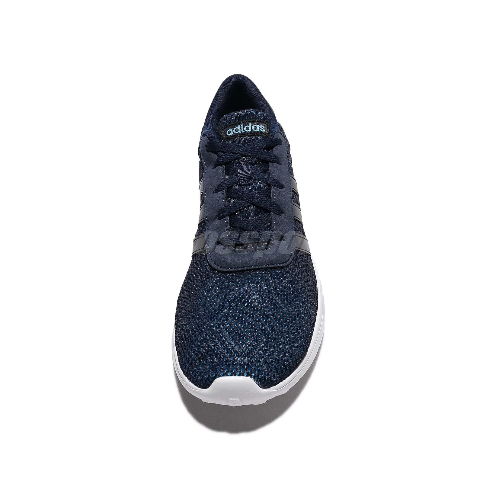 adidas neo men's lite racer black silver and solblu running shoes nz