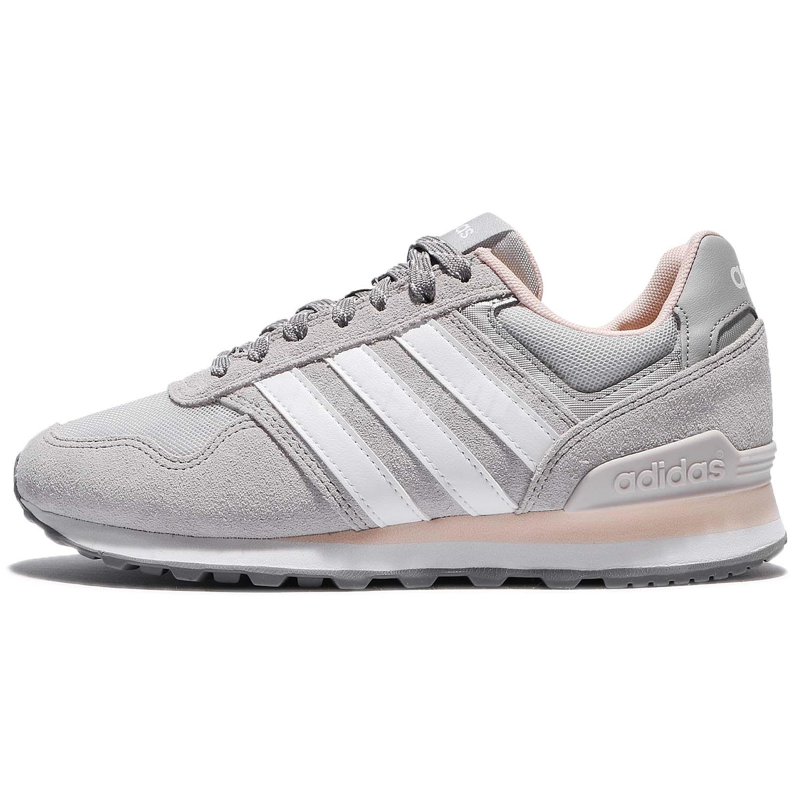 online store 6b3c2 7471d ... adidas Neo 10K W Grey Ice Pink Suede Women Running Shoes Sneakers  BB9801 . ...