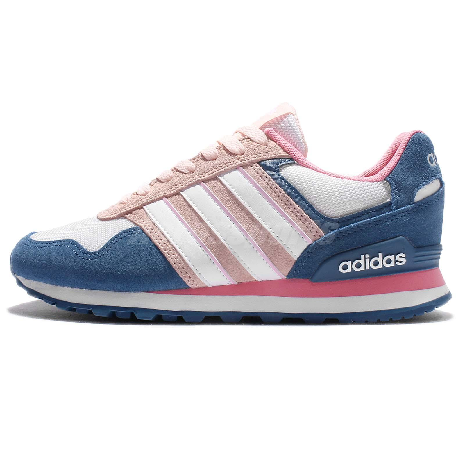 adidas Neo Label 10K W Blue Pink White Women Running Shoes Sneakers BB9804