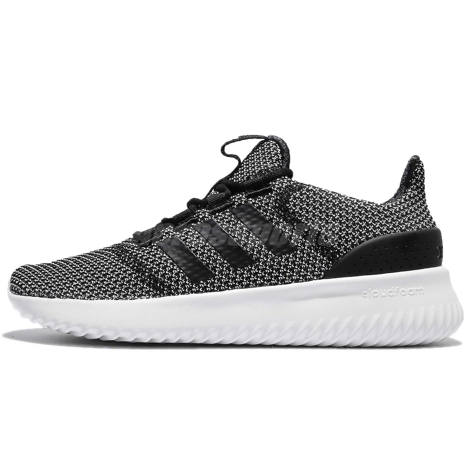 best website 87267 04e8e adidas Neo Cloudfoam Ultimate Black White Women Running Shoes Trainers  BC0033