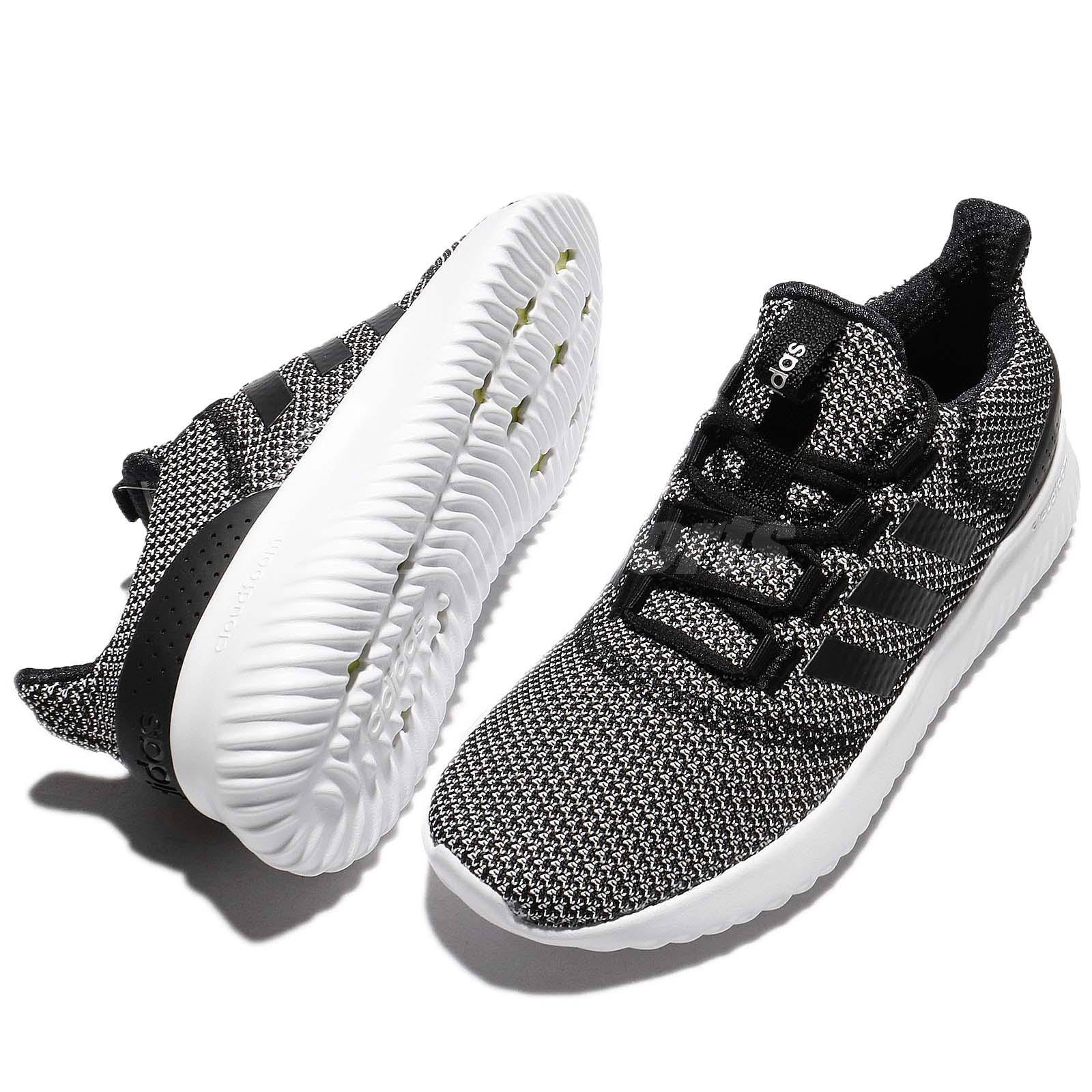 promo code cce78 2f3ad adidas Neo Cloudfoam Ultimate Black White Women Running Shoe