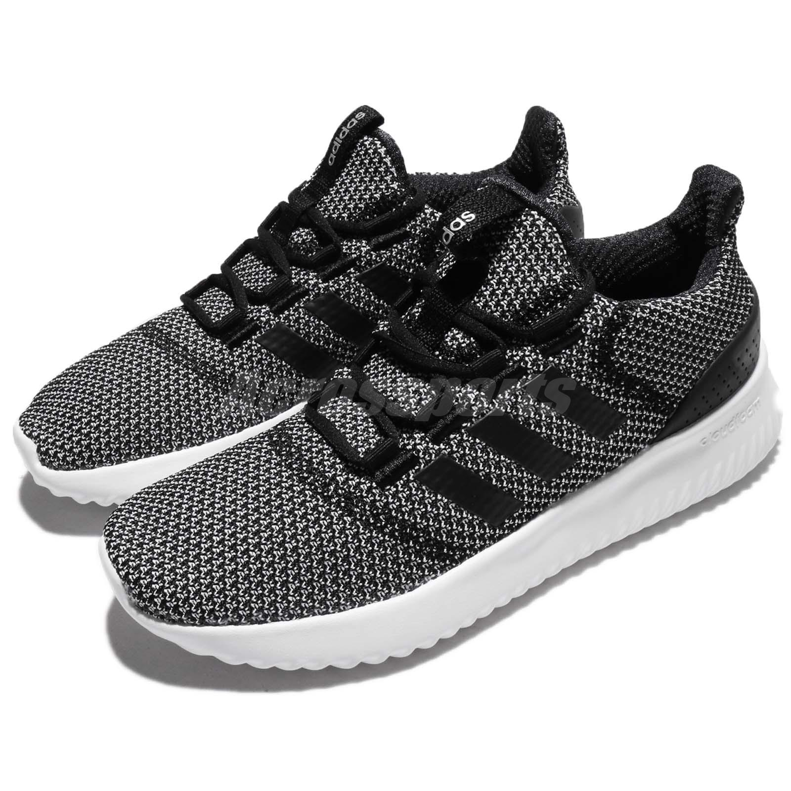 e01c2ae1c Details about adidas Neo Cloudfoam Ultimate Black White Women Running Shoes  Trainers BC0033