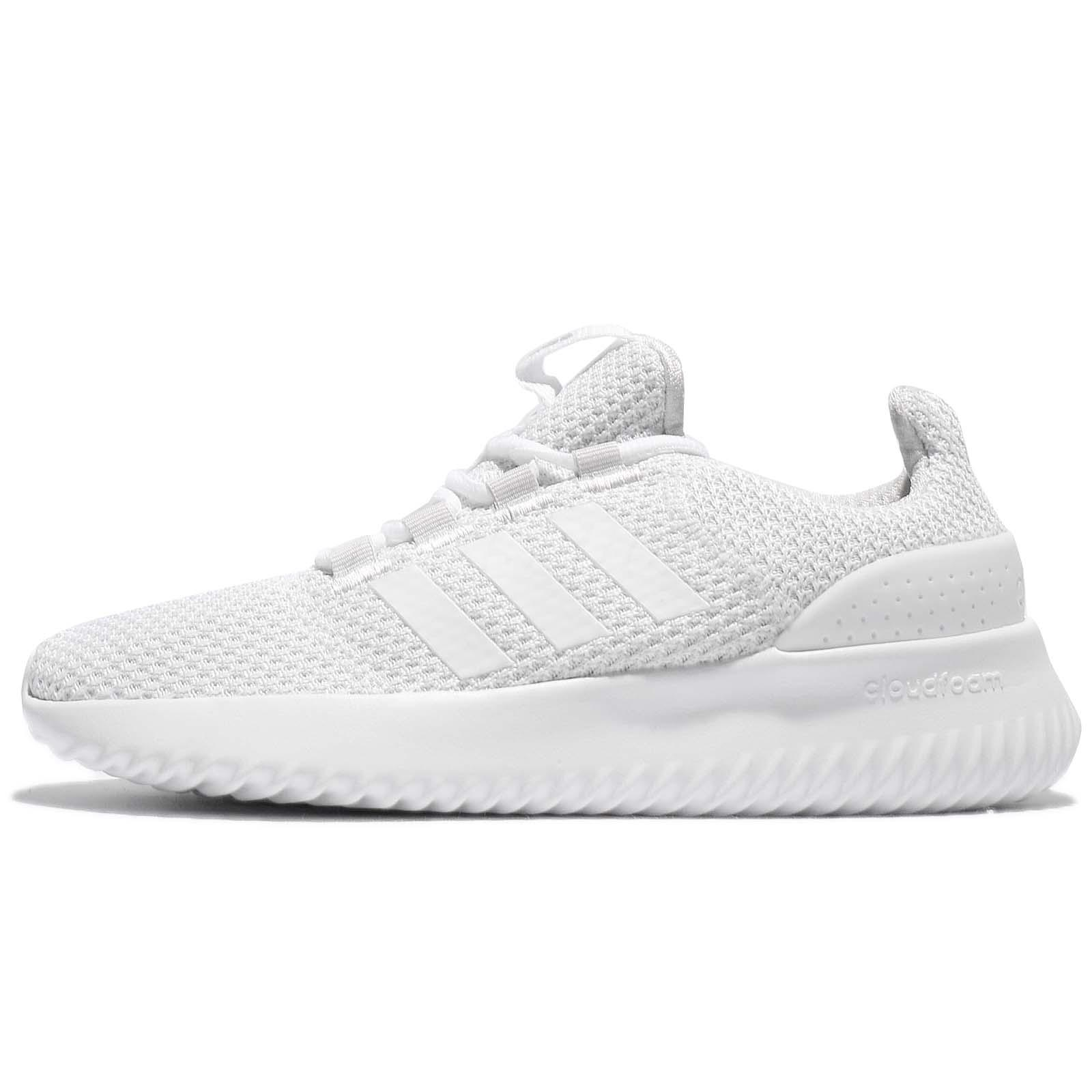 promo code 97d88 01c5a adidas Neo Cloudfoam Ultimate Grey White Women Running Shoes Trainers BC0034