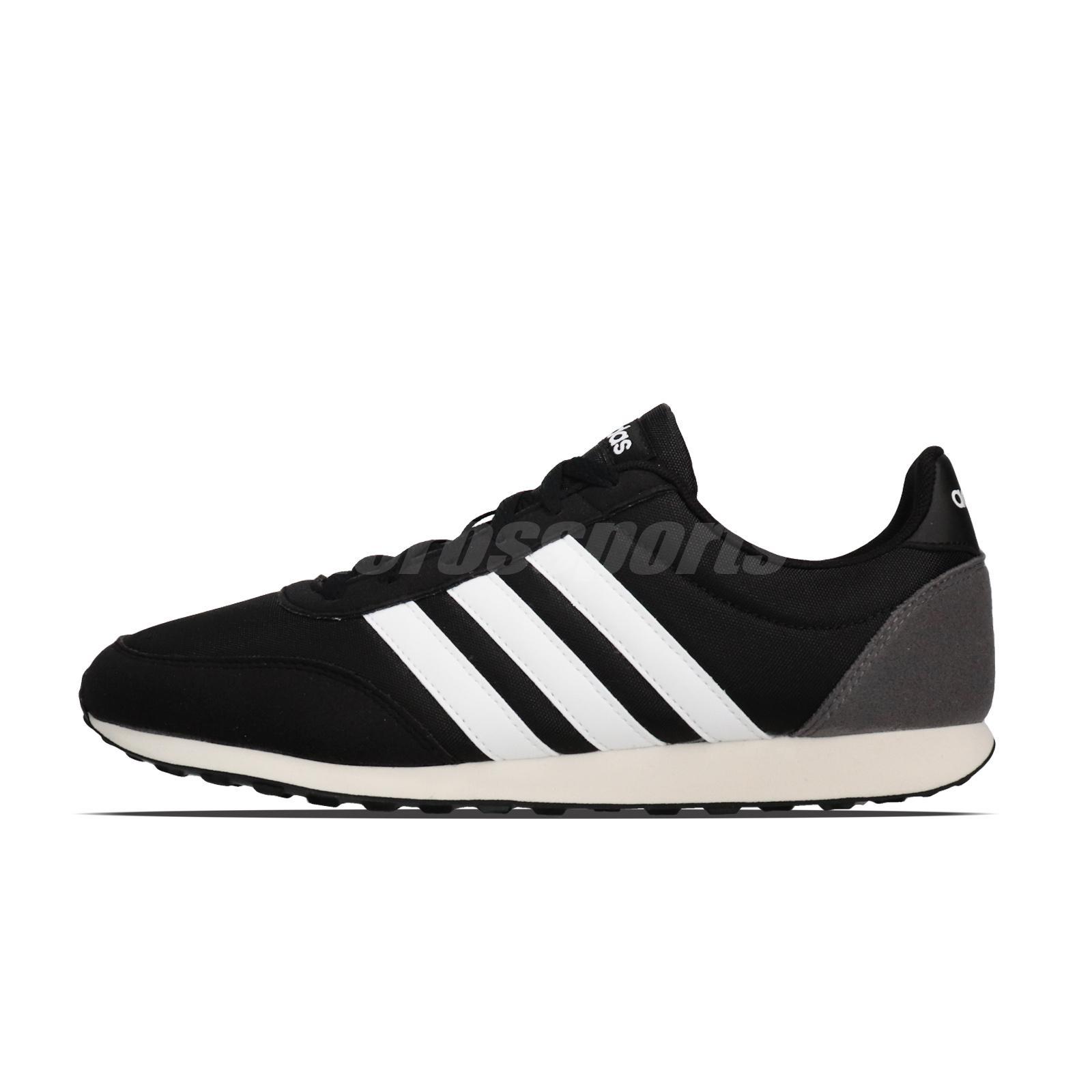 Adidas Mens V Racer 2.0 Neo Sport Style Walking Shoes Core Black White BC0106
