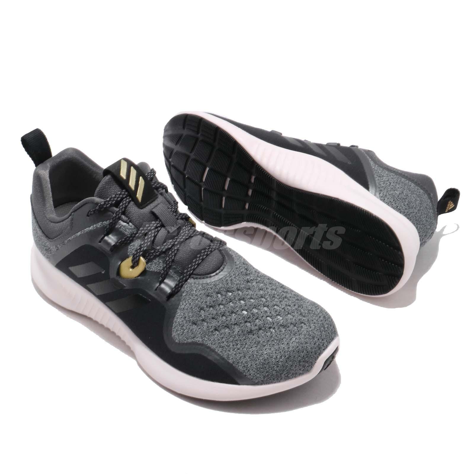 adidas Edgebounce W Black Grey Orchid Tint Women Running Shoes ... 582e0433d