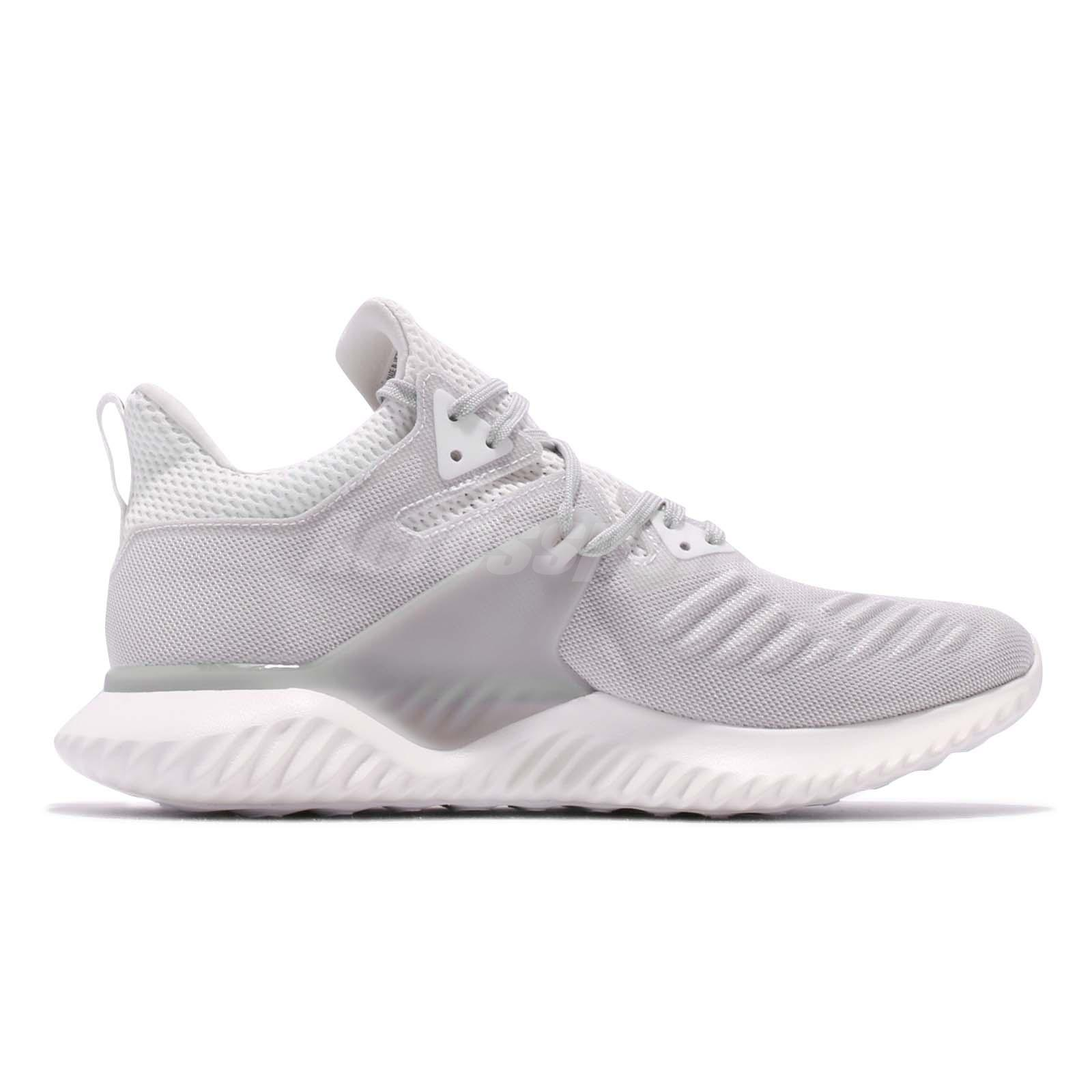 f40bf9e2c13f6 adidas AlphaBOUNCE Beyond 2 M White Grey Men Running Shoes Sneakers ...