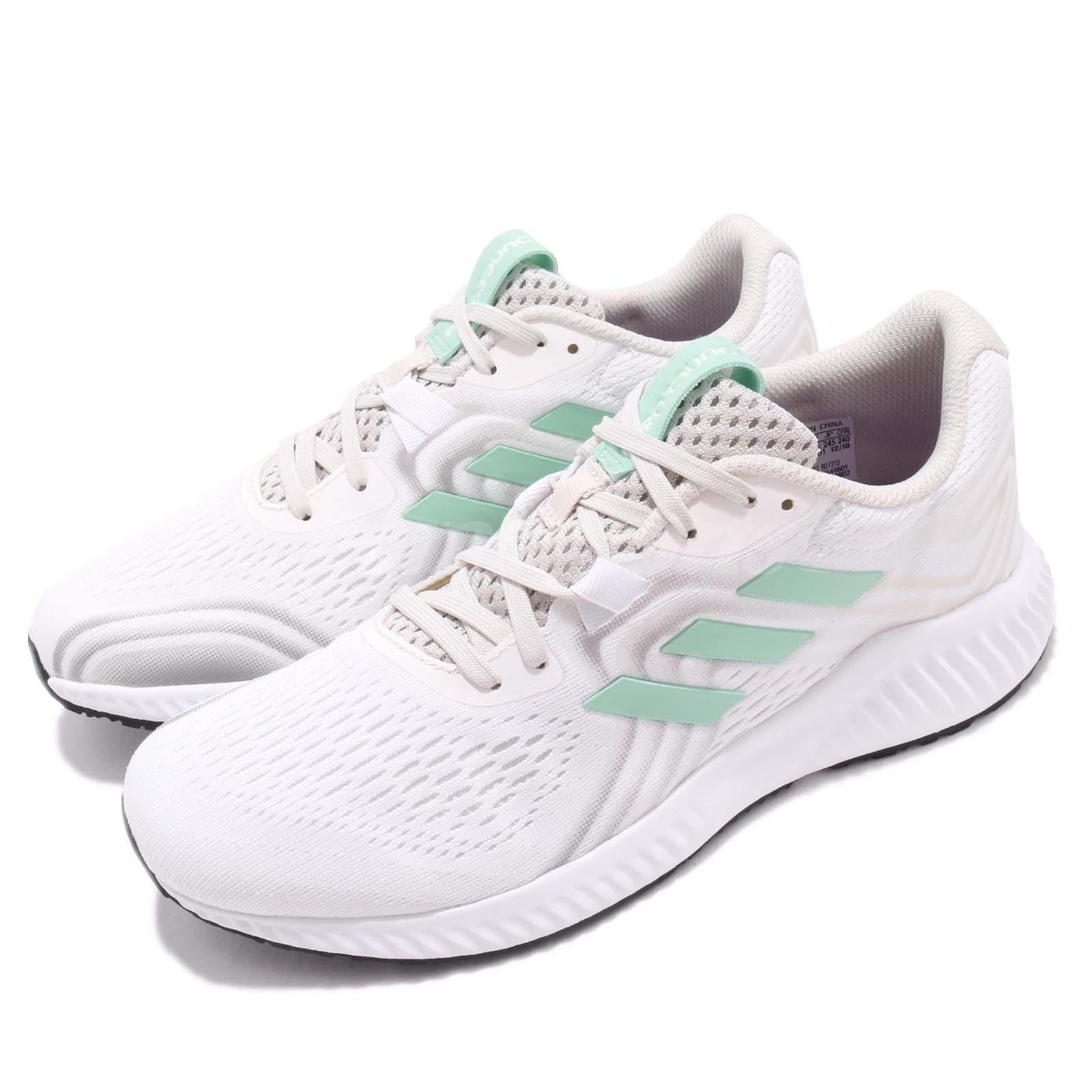 Details about adidas AeroBOUNCE 2 W White Beige Green Women Running Shoes  Sneakers BD7213