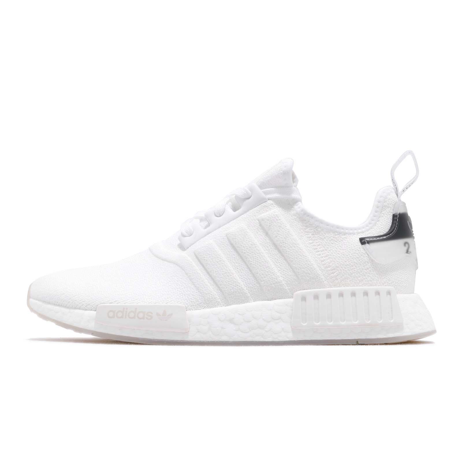 adidas Originals NMD R1 Boost White Black Men Running Shoes Sneakers BD7746 7d826b1cd