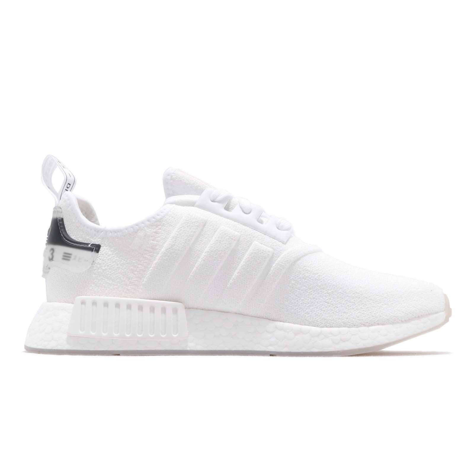adidas Originals NMD R1 Boost White Black Men Running Shoes Sneakers ... 2e117d85a