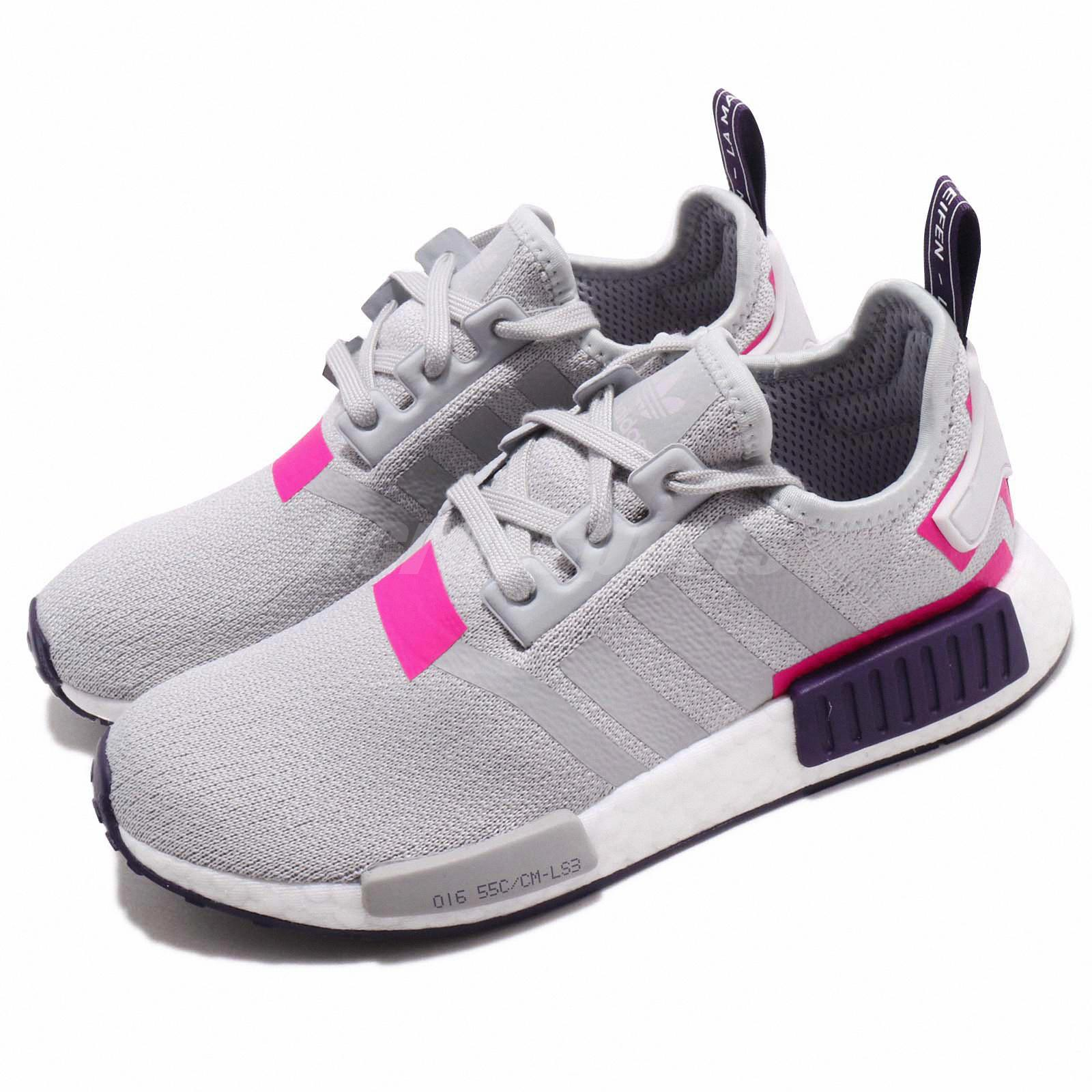 Mujer Adidas Originals NMD_R1 Dos Gris, Rosa Shock Zapatillas BD8006