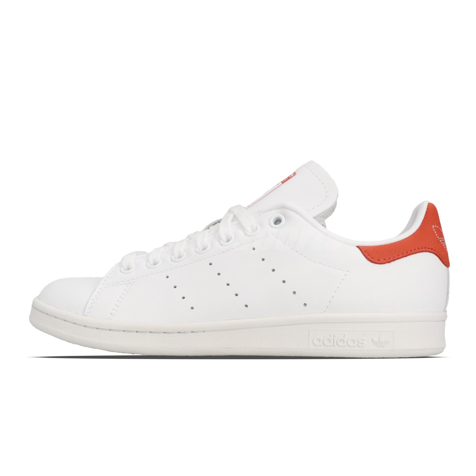 Dettagli su adidas Originals Stan Smith White Orange Men Women Unisex Classic Shoes BD8023