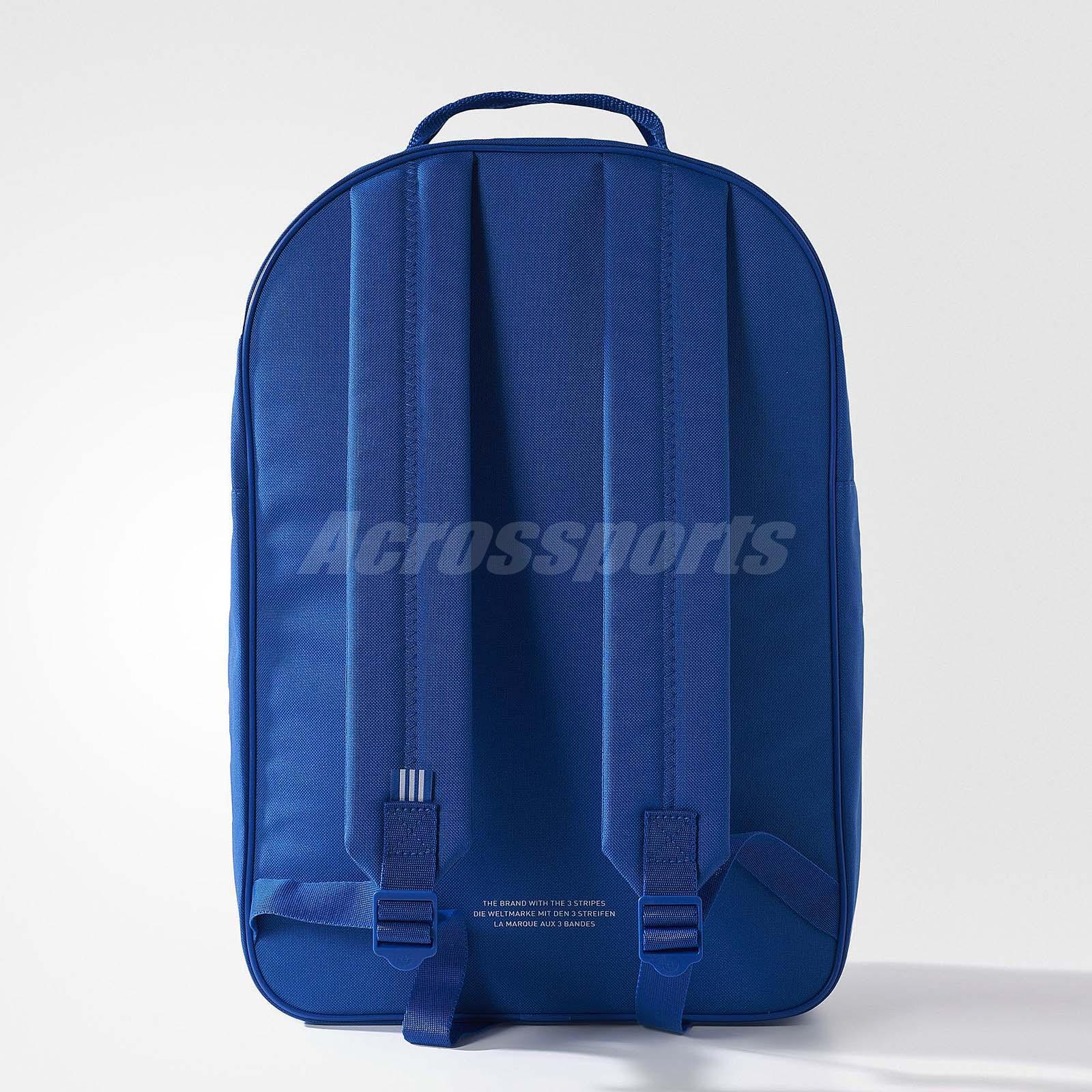 adidas Originals Trefoil Blue White Men Polyester Backpack BP Bag ... 8e58fd6d4c717