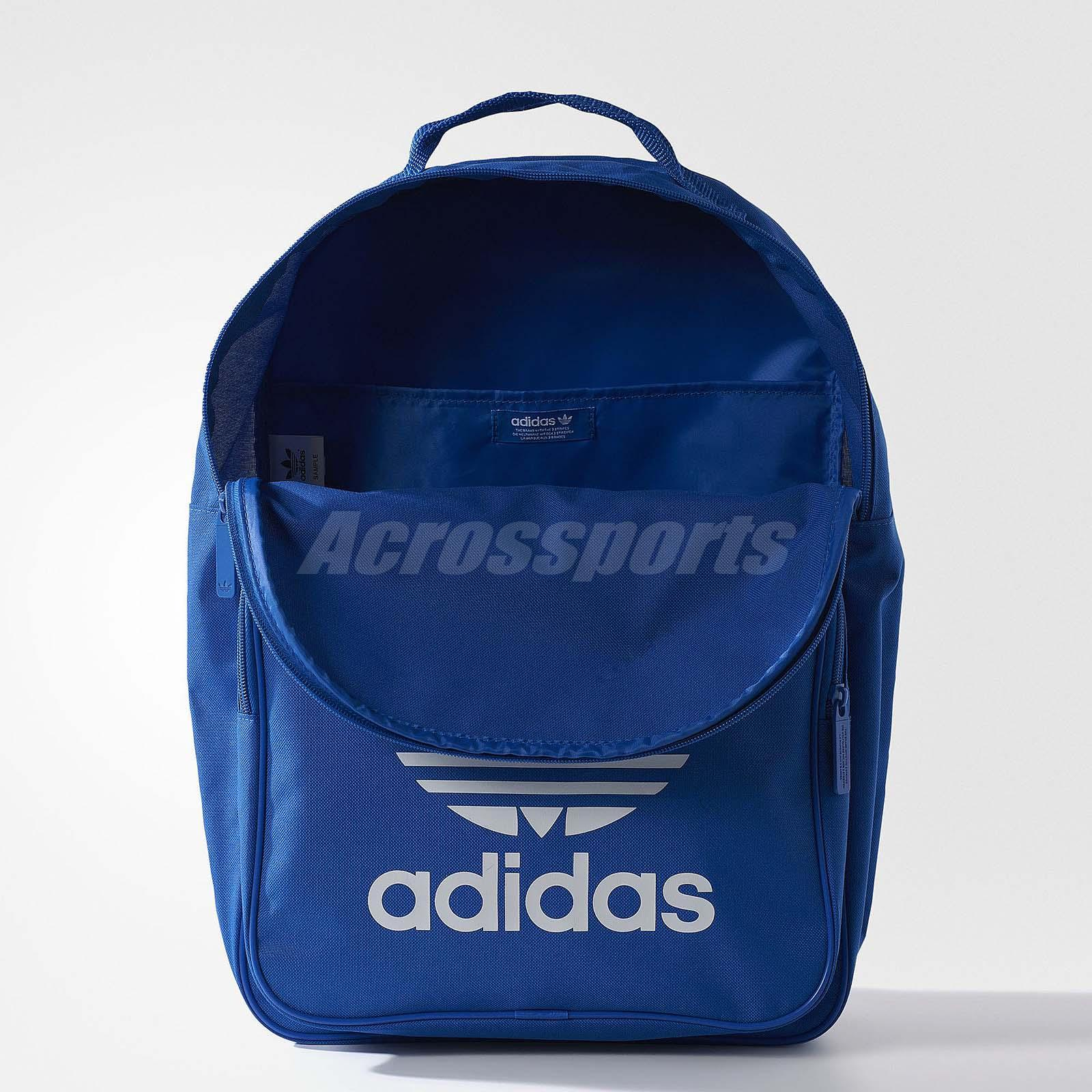 adidas Originals Trefoil Blue White Men Polyester Backpack BP Bag ... 7db8adf7cfb23