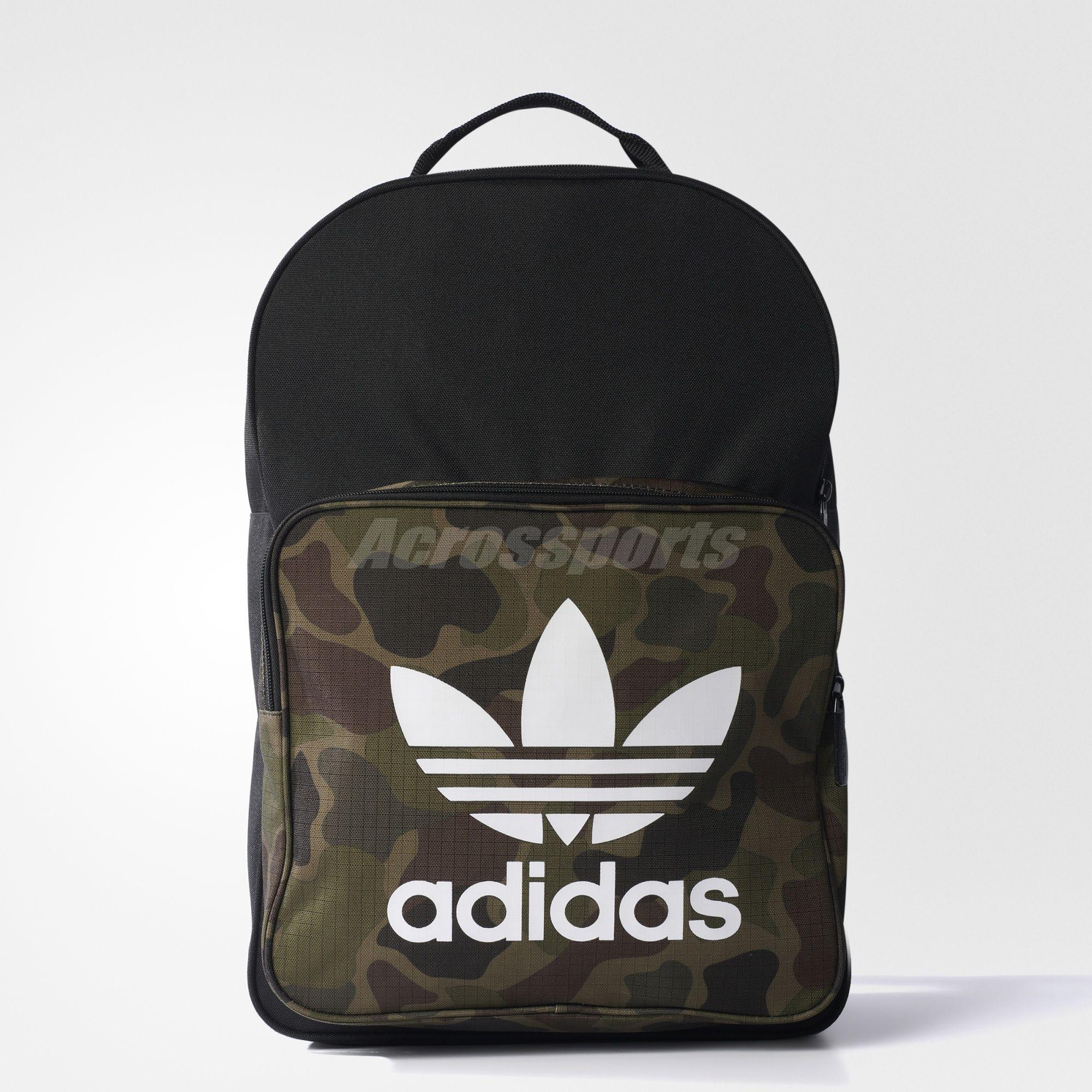 adidas Originals Classic Camouflage Black Men Backpack BP Bag BK7214 ... 7705fe1038a4a