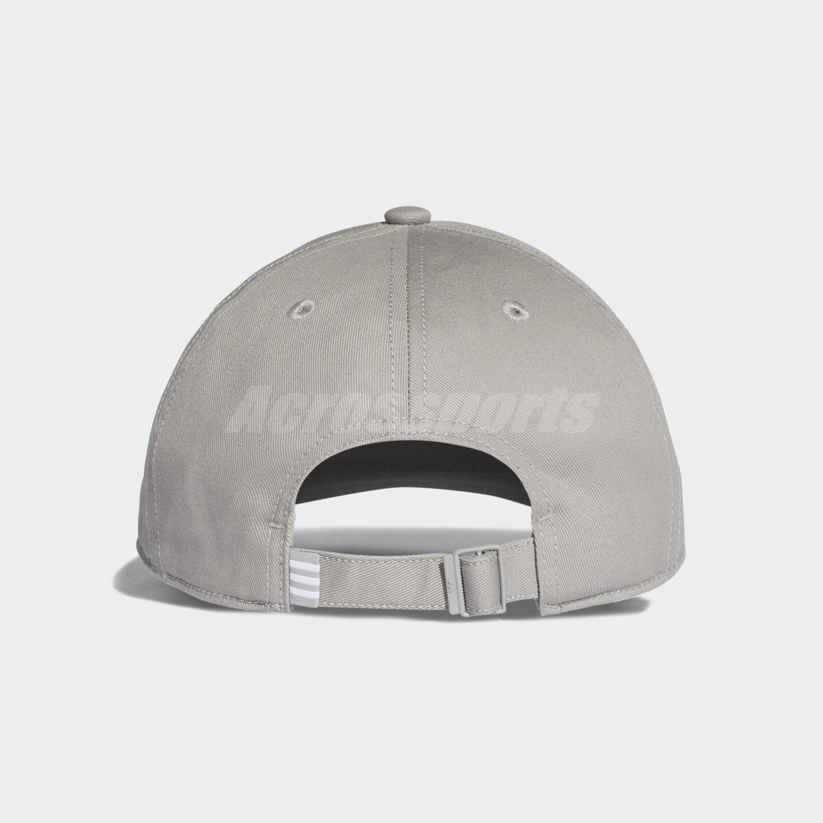 3c818679b2ae6 adidas Originals Trefoil Classic Grey White Cap Adjustable Strap Hat ...
