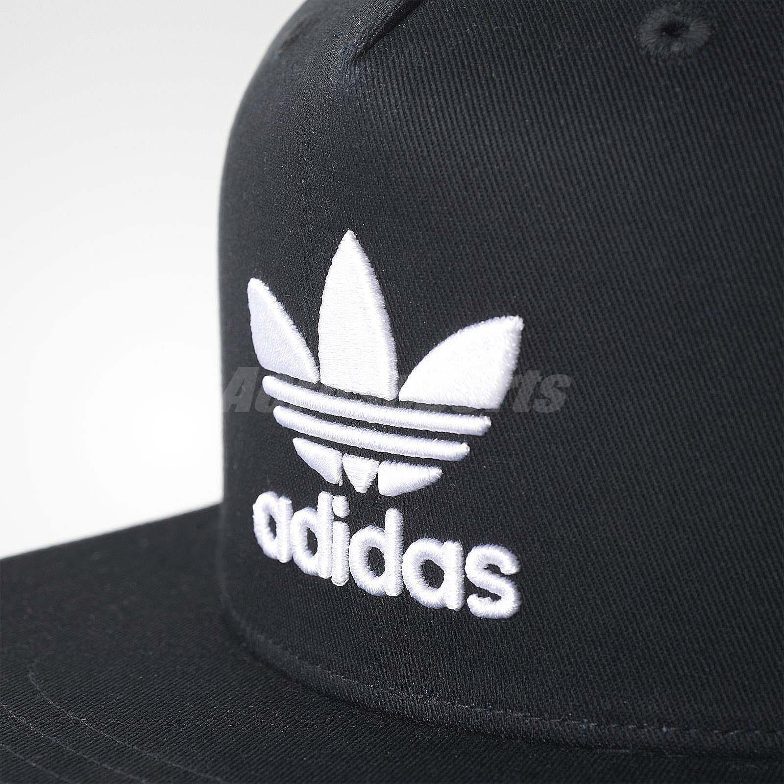 41dc3ff7b0b adidas Unisex Originals Trefoil Snap-Back Cap Hat Baseball Black ...