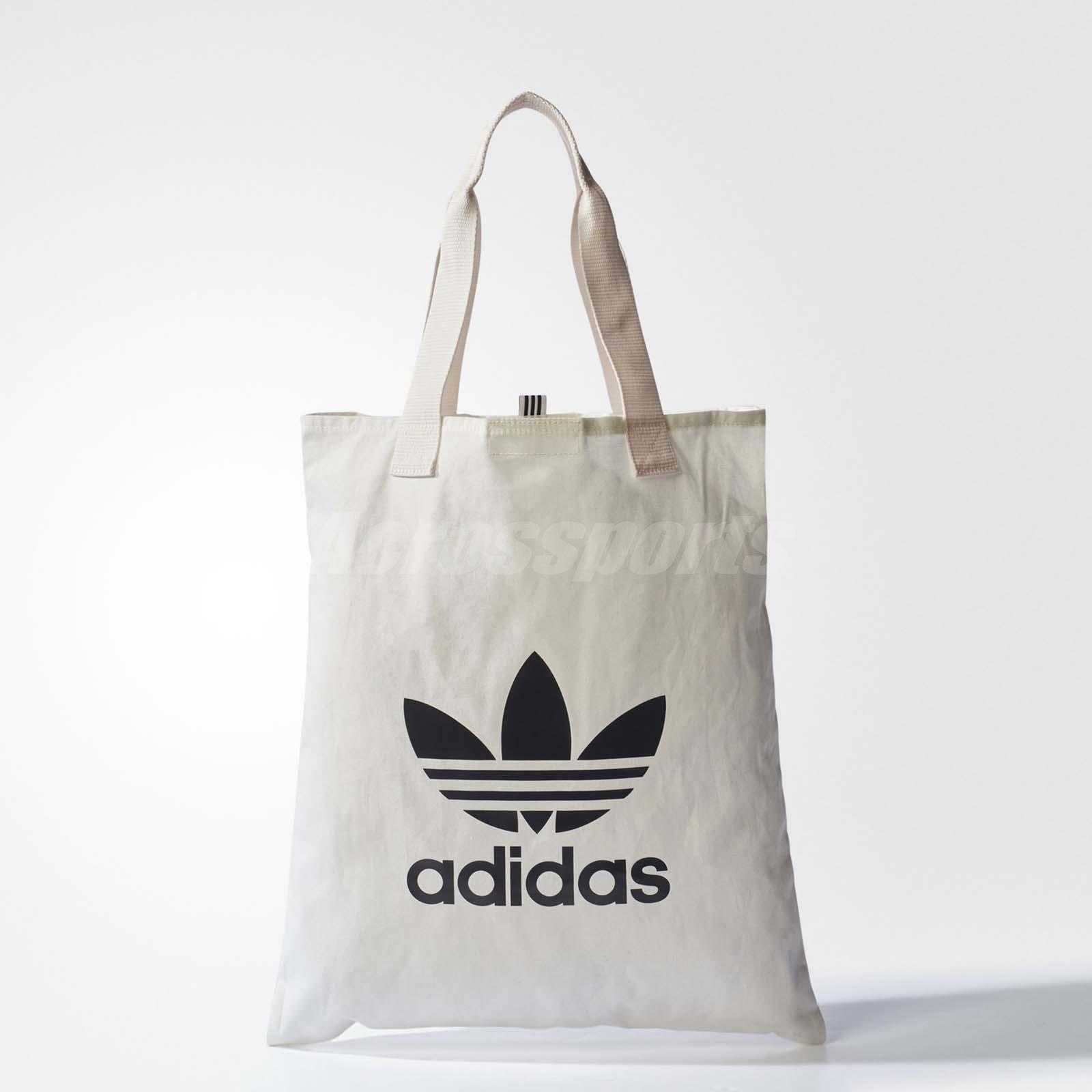 8f998c82dec Details about adidas Unisex Originals Shopper Bag Tote Shoulder Bag White  Black BQ7569