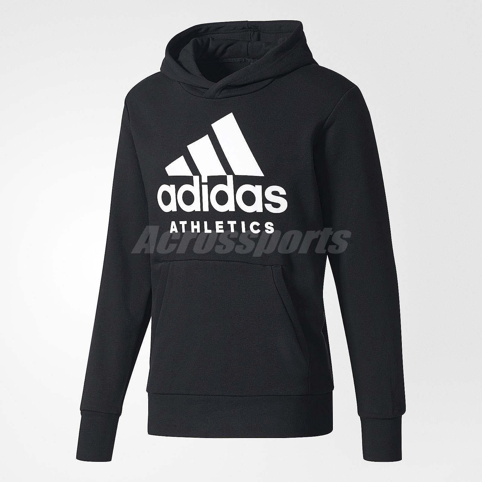 adidas Performance SPORT ID LOGO HOODIE - Jersey con capucha - black 2ynVPy