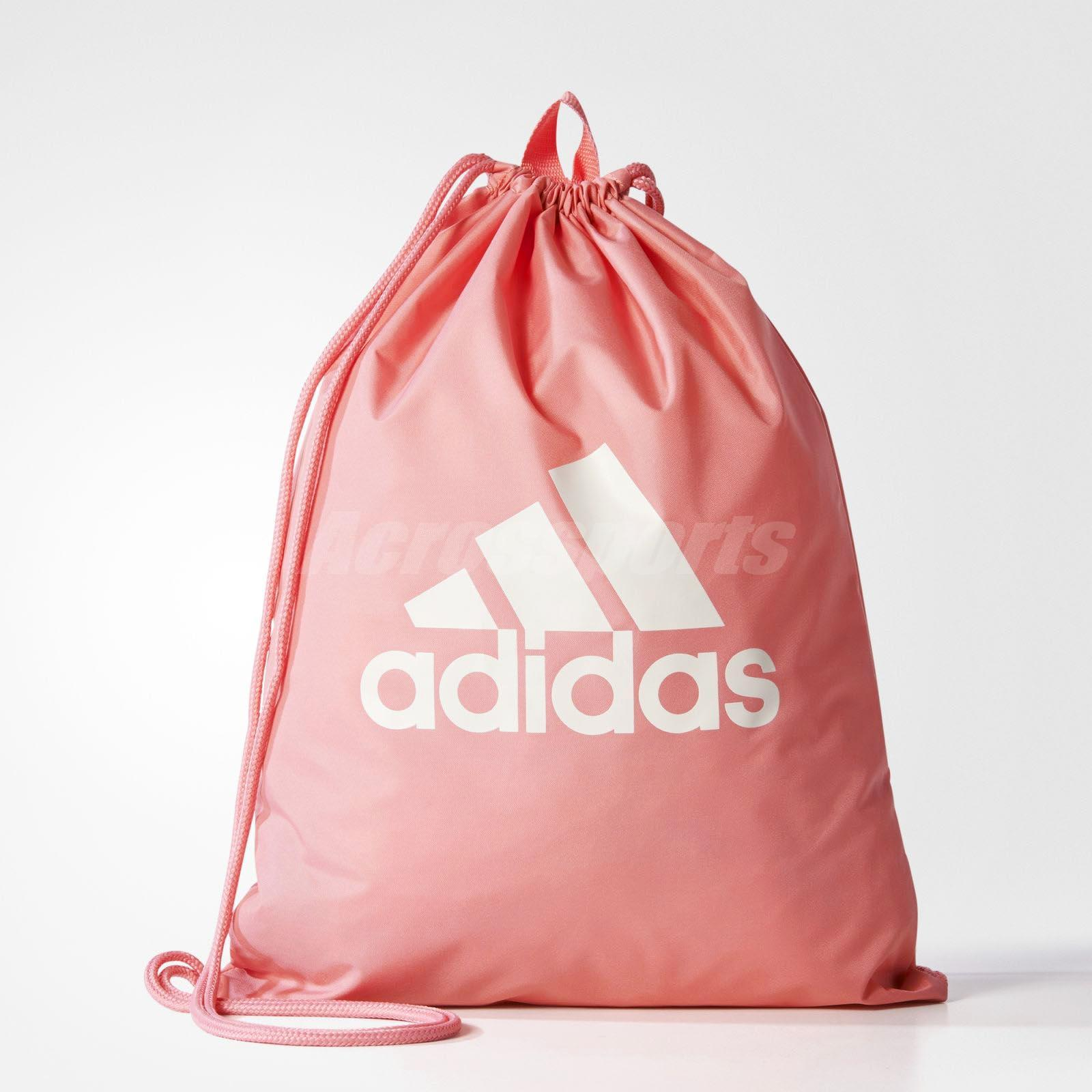 08f4ad81dceaa adidas Unisex Performance Logo Gymsack Bag Backpack Running Training Pink  BR5200