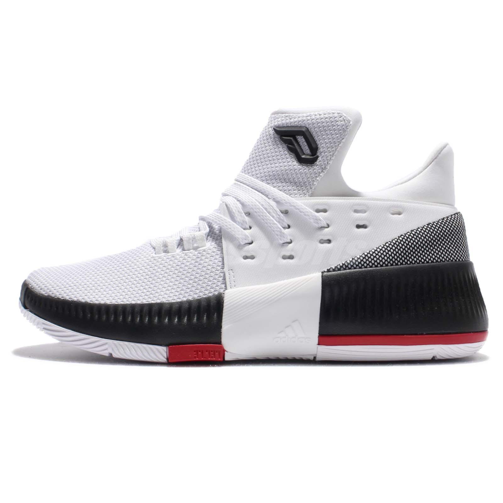 adidas D Lillard 3 J Damian Rip City White Kids Junior Basketball Shoes  BW0535