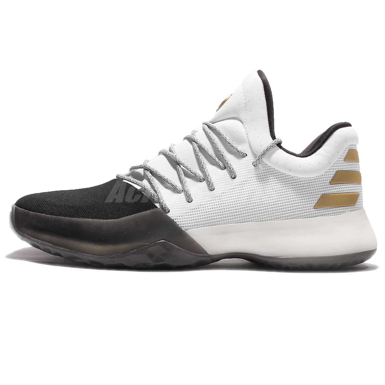 James Harden Gold Shoes: Adidas Harden Vol.1 James Disruptor White Black Men