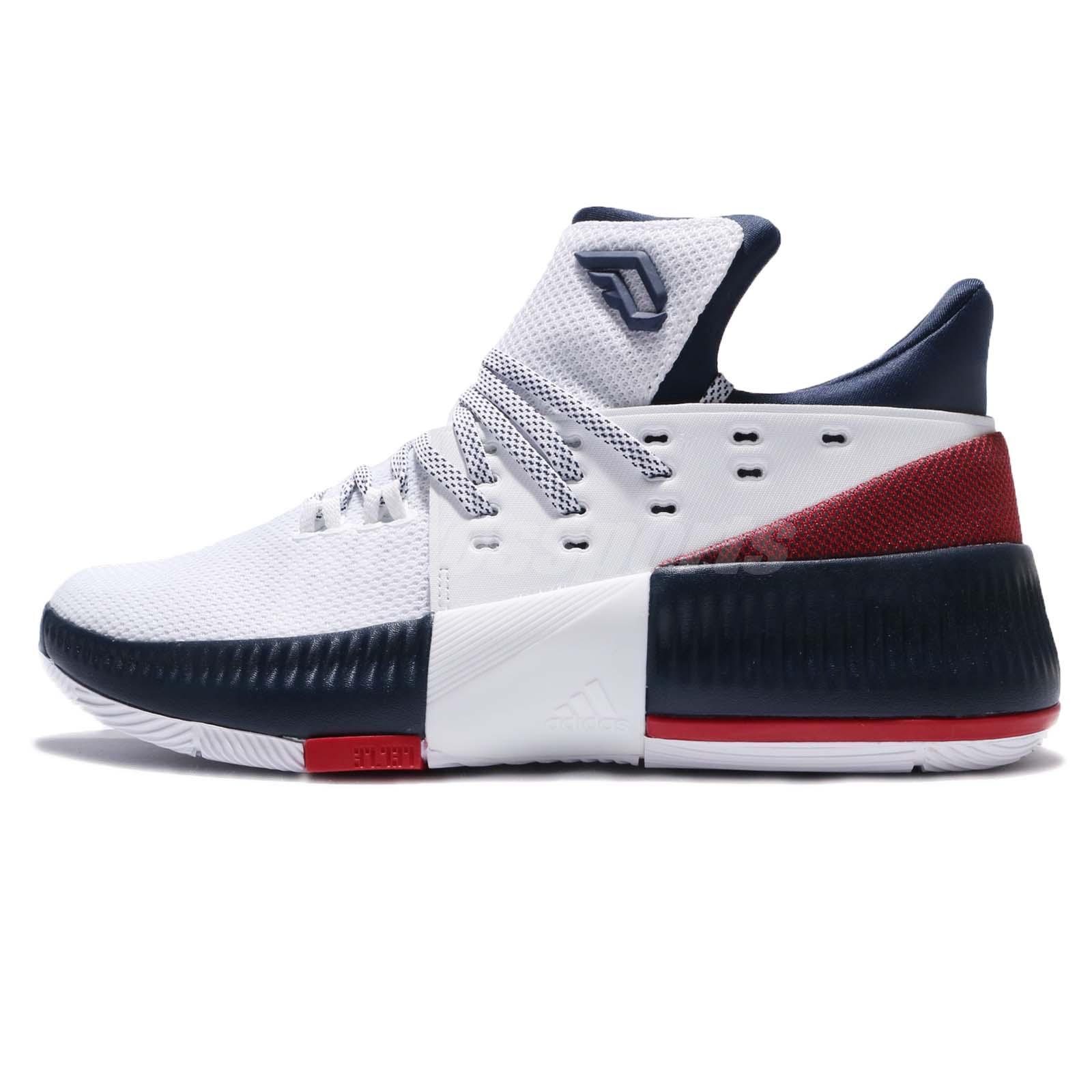 54fbdc1c82b adidas Dame 3 J Damian Lillard Navy Red White Kids Basketball Shoes BW1101