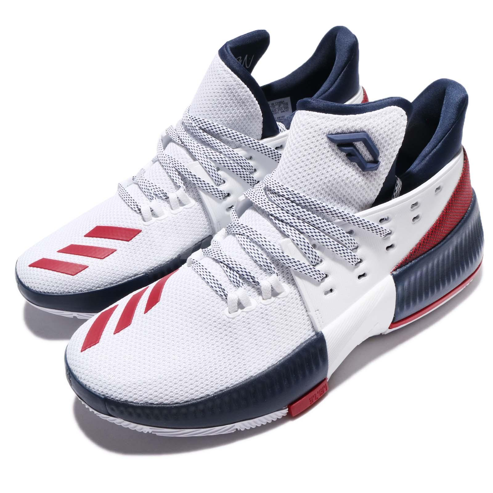 premium selection 39164 f2bee adidas Dame 3 J Damian Lillard Navy Red White Kids Basketbal
