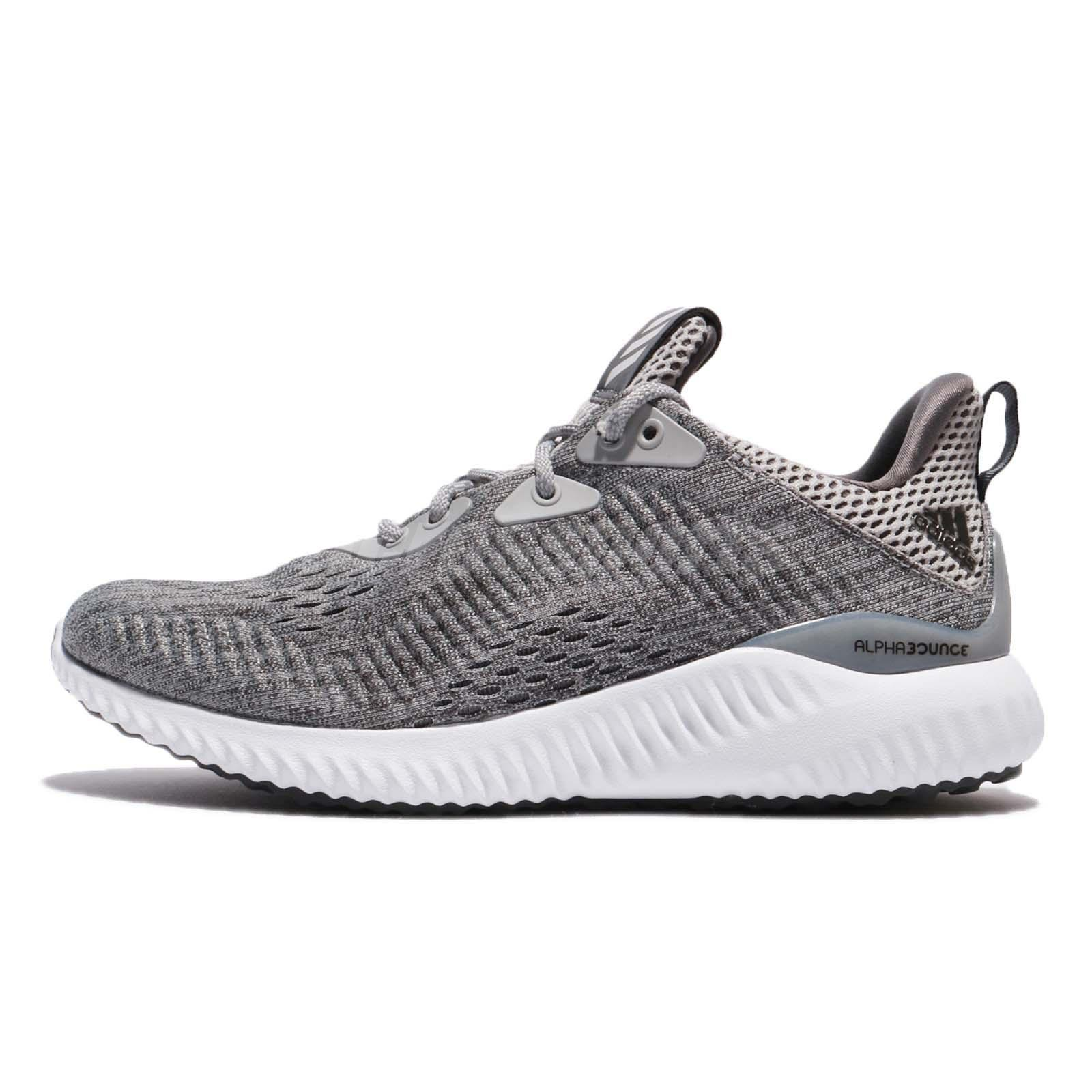 13ff0ef45 adidas Alphabounce EM W Engineered Mesh Grey White Women Running Shoes  BW1194