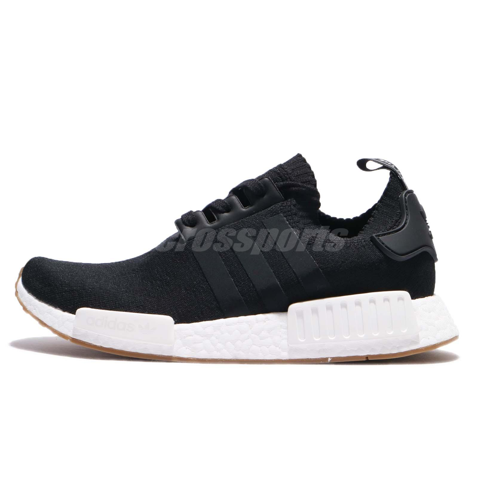 low priced 85e85 e5643 adidas Originals NMD R1 PK PrimeKnit BOOST Black Gum Men Running Sneakers  BY1887