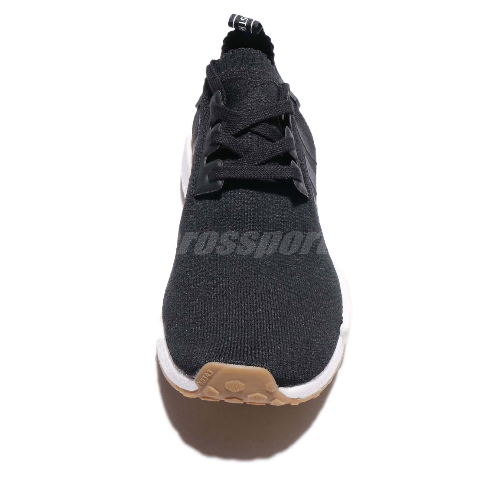 timeless design f8992 6f01b adidas Originals NMD R1 PK PrimeKnit BOOST Black Gum Men Running ...