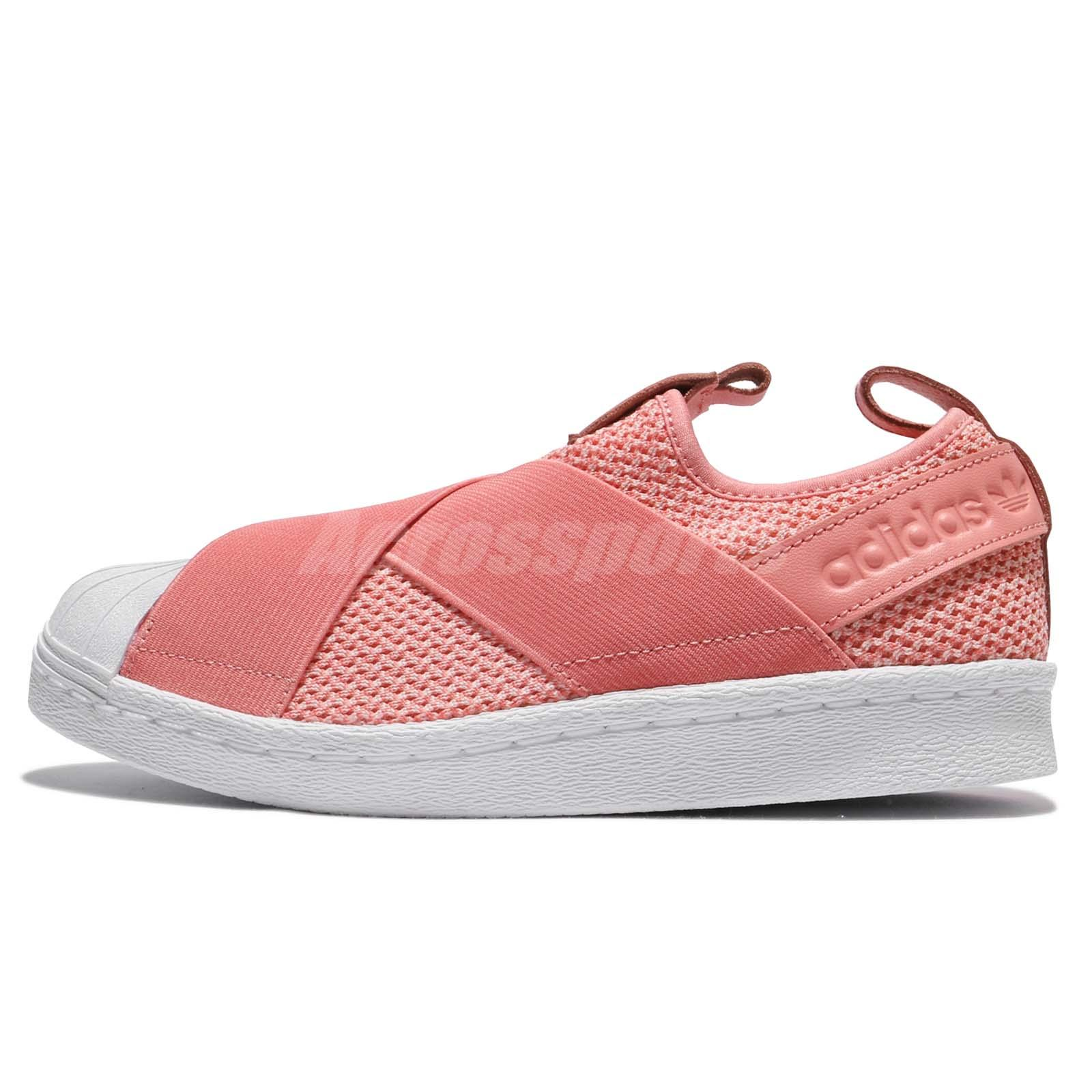 adidas Originals Superstar SlipOn W Strap Tactile Rose White Women Shoes  BY2950
