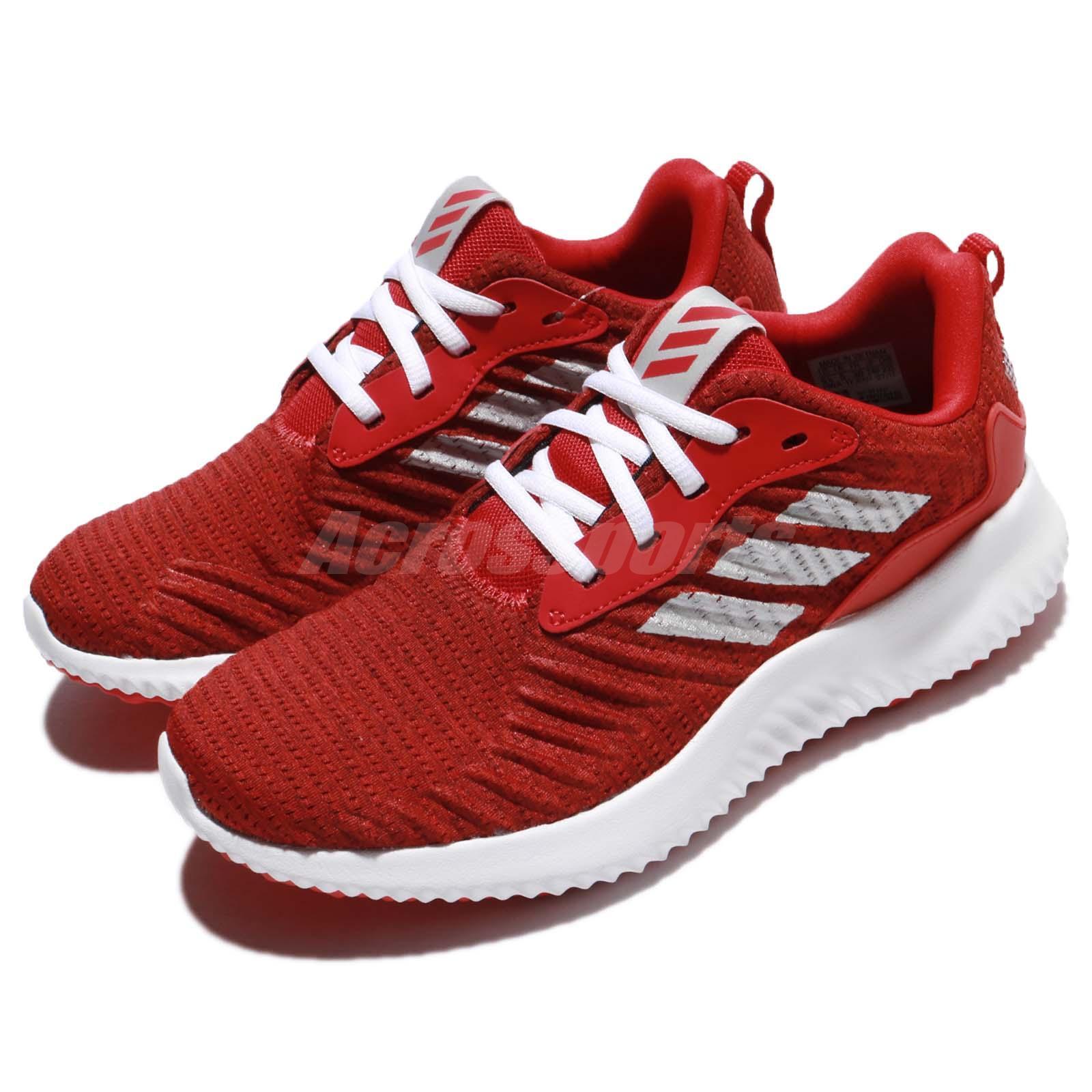 adidas alphabounce rc j rosso - bianco - argento figli junior donne in fuga