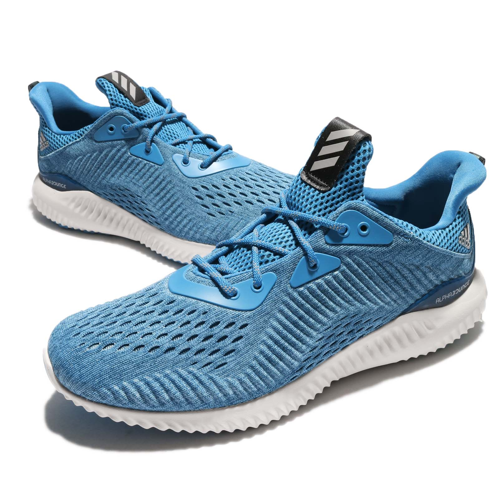 83dd3f3532e Adidas Alphabounce EM M Engineered Mesh Blue Men Running Shoes Trainers  BY3846 EBay