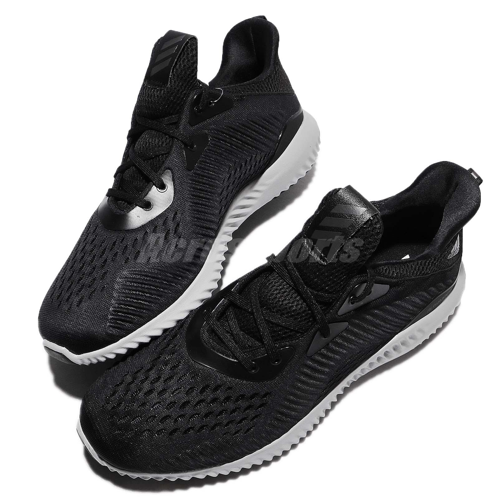 9e83613e3dfe9 adidas Alphabounce EM M R Core Black Grey Men Running Shoes Sneakers ...