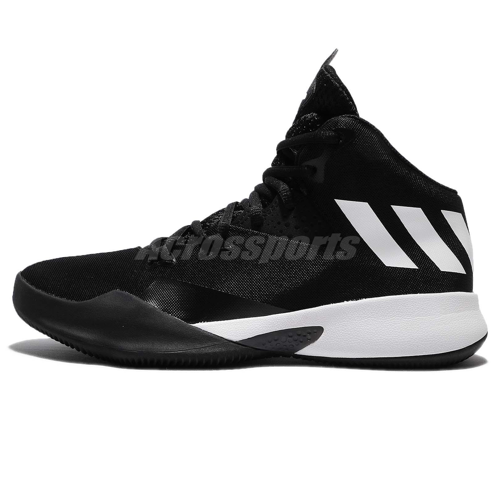 4b144fa594d0 ... promo code for adidas dual threat 2017 j black white kids women junior basketball  shoes by4442