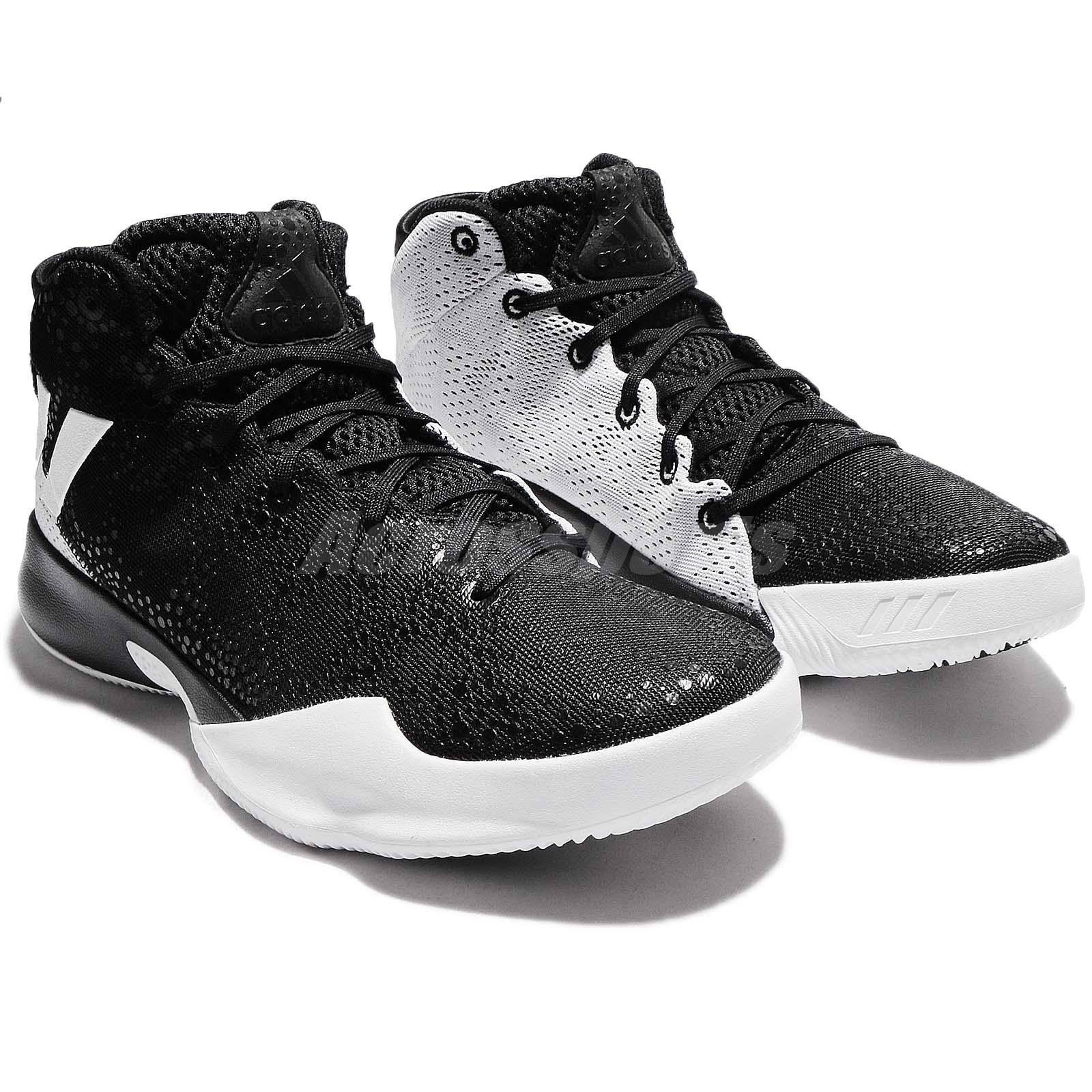 ffd1617eca42 adidas Crazy Heat Black White Men Basketball Shoes Sneakers BY4530 ...