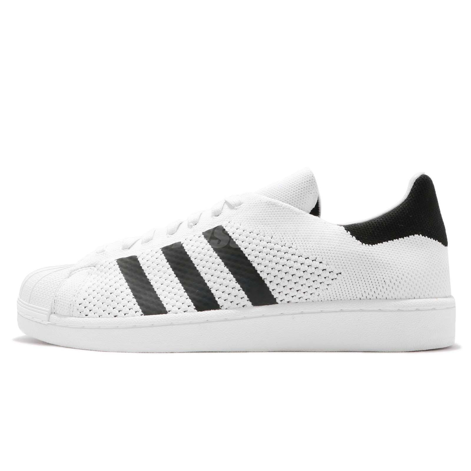 the latest e3db4 6d72b adidas Originals Superstar PK PrimeKnit White Black Men Casual Shoes BY8704