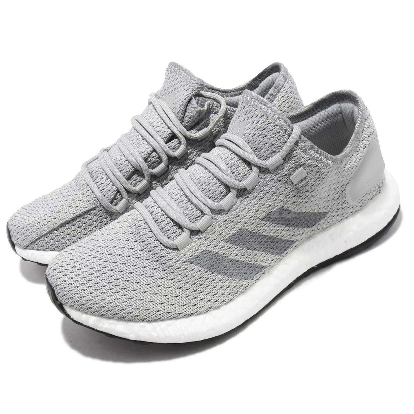 787cc60e6 Details about adidas PureBOOST Clima Grey White Men Running Casual Shoes  Sneakers BY8898