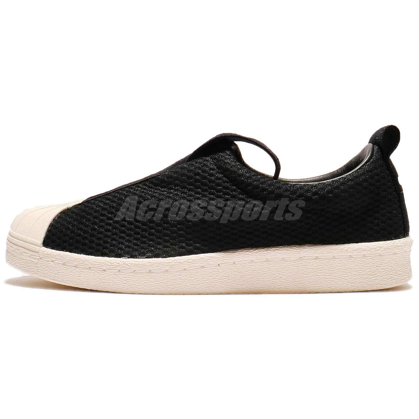 ADIDAS ORIGINALS SUPERSTAR BW35 Slip On W Black White Women Shoes Sneaker BY9137