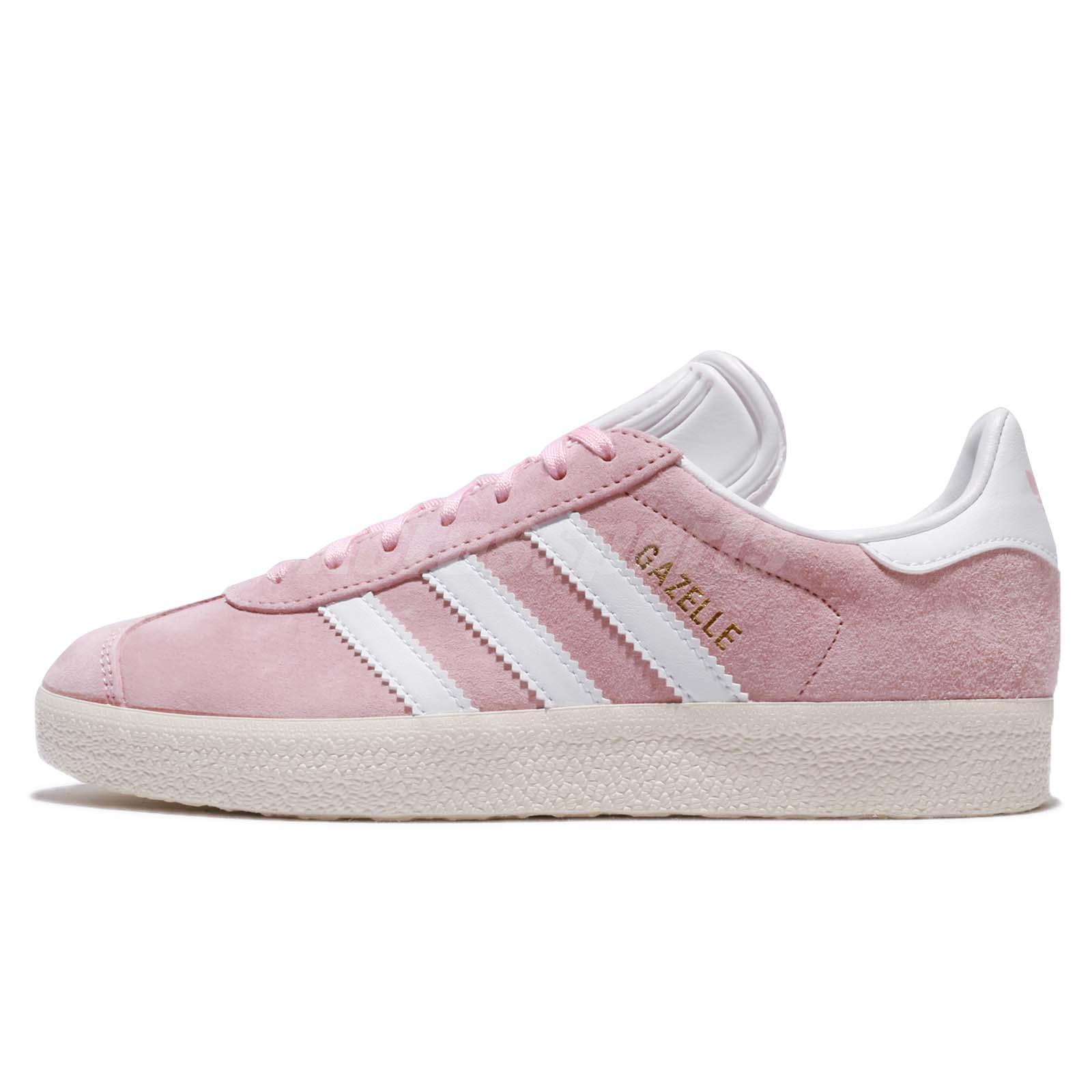 promo code e43a5 69c28 adidas Originals Gazelle W Wonder Pink White Nubuck Women Shoes Sneakers  BY9352