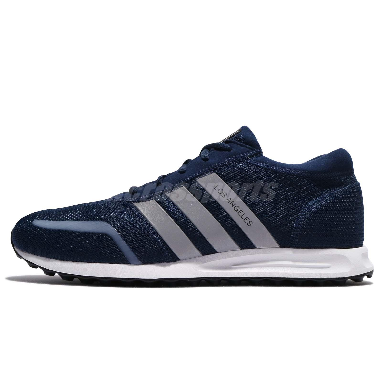 adidas Originals Los Angeles Navy White Silver Men Running Shoe Sneaker  BY9607