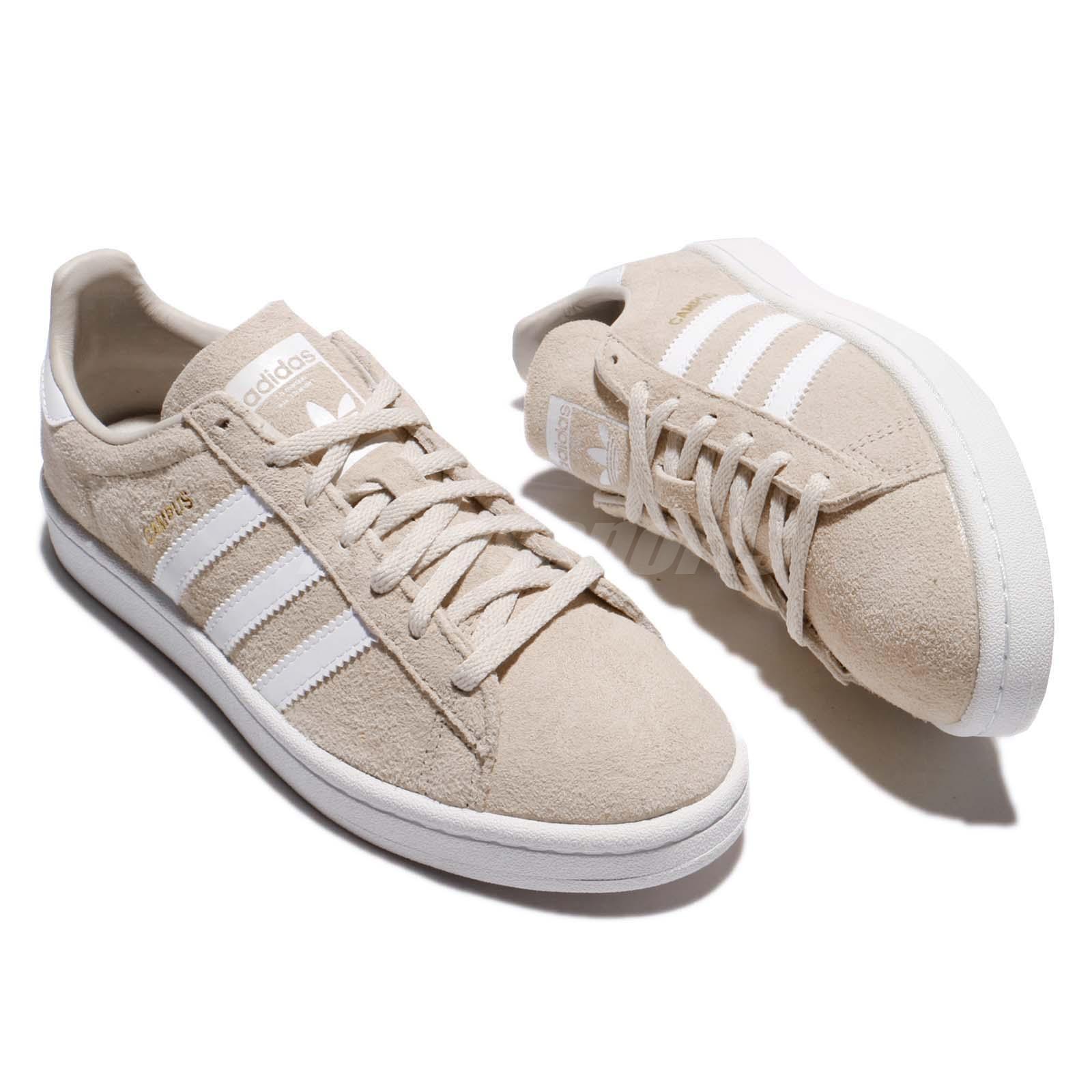 pretty nice 9ea69 e64bf Adidas Originals Campus W Camurça Marrom Clara sapatos