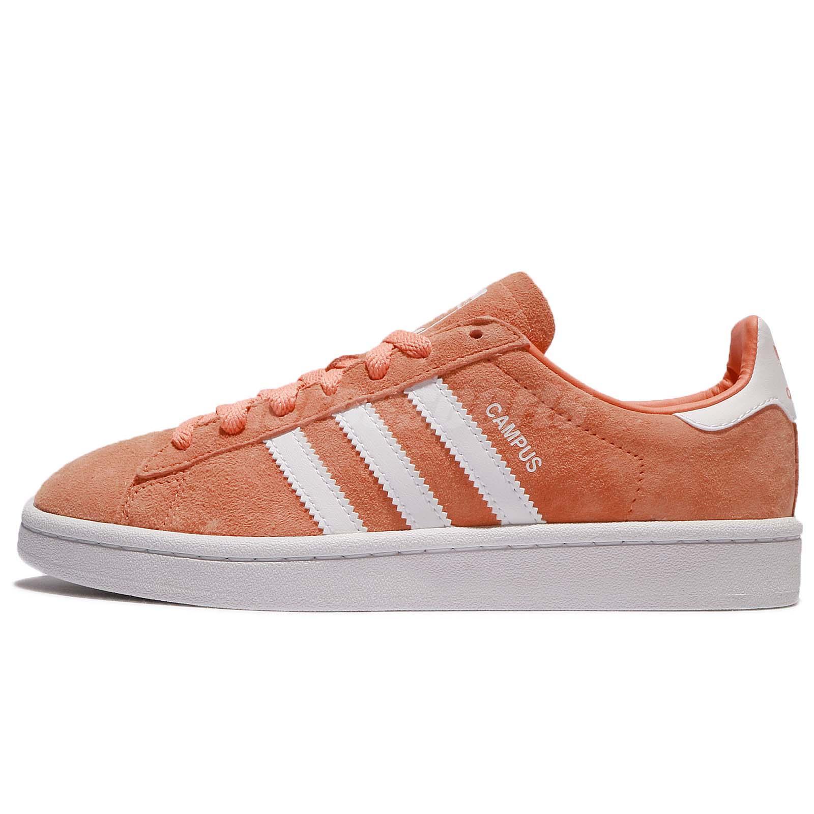 4d5cc396e1b2 adidas Originals Campus Nubuck Orange White Men Women Shoes Sneakers BZ0083