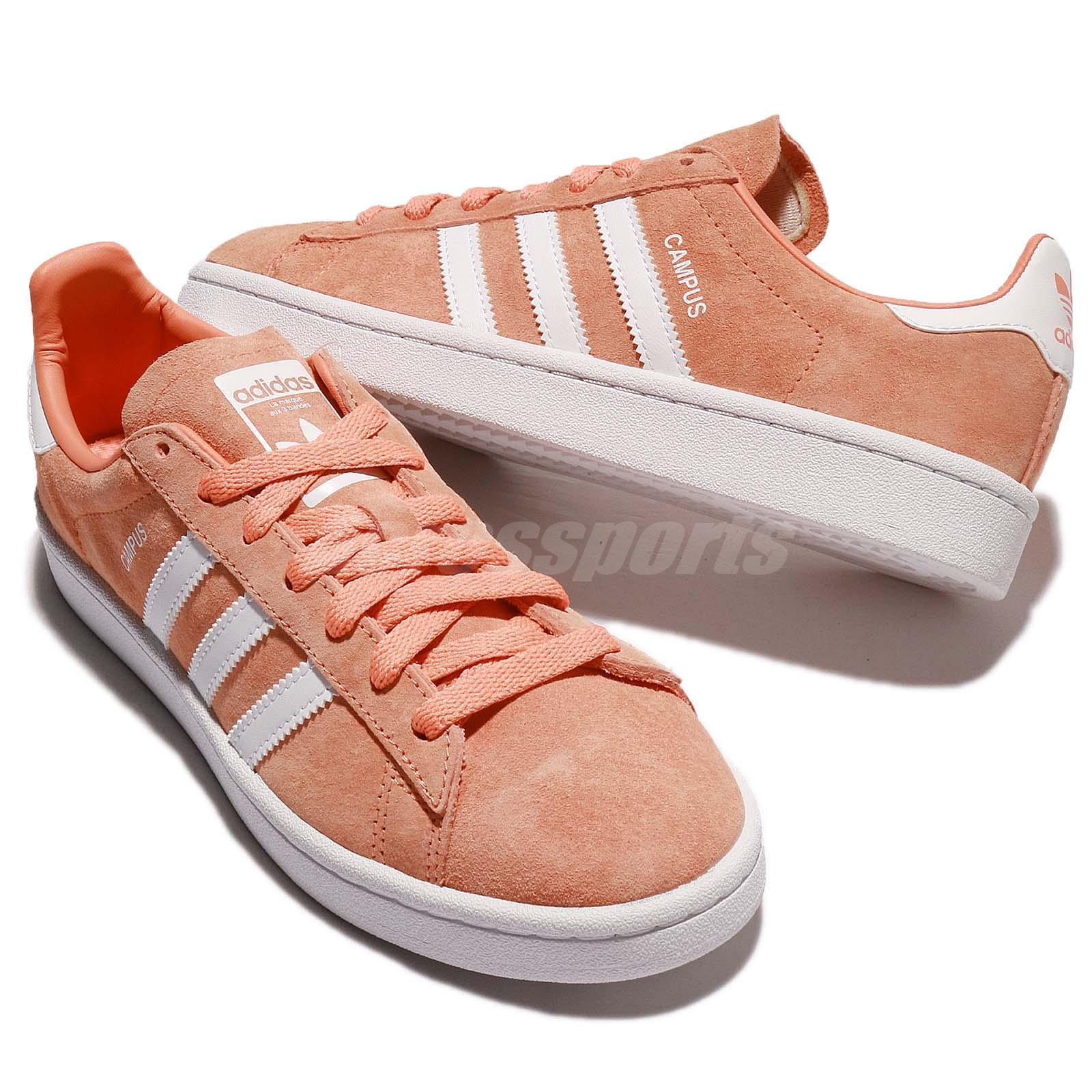 365aa02e84b0 adidas Originals Campus Nubuck Orange White Men Women Shoes Sneakers ...