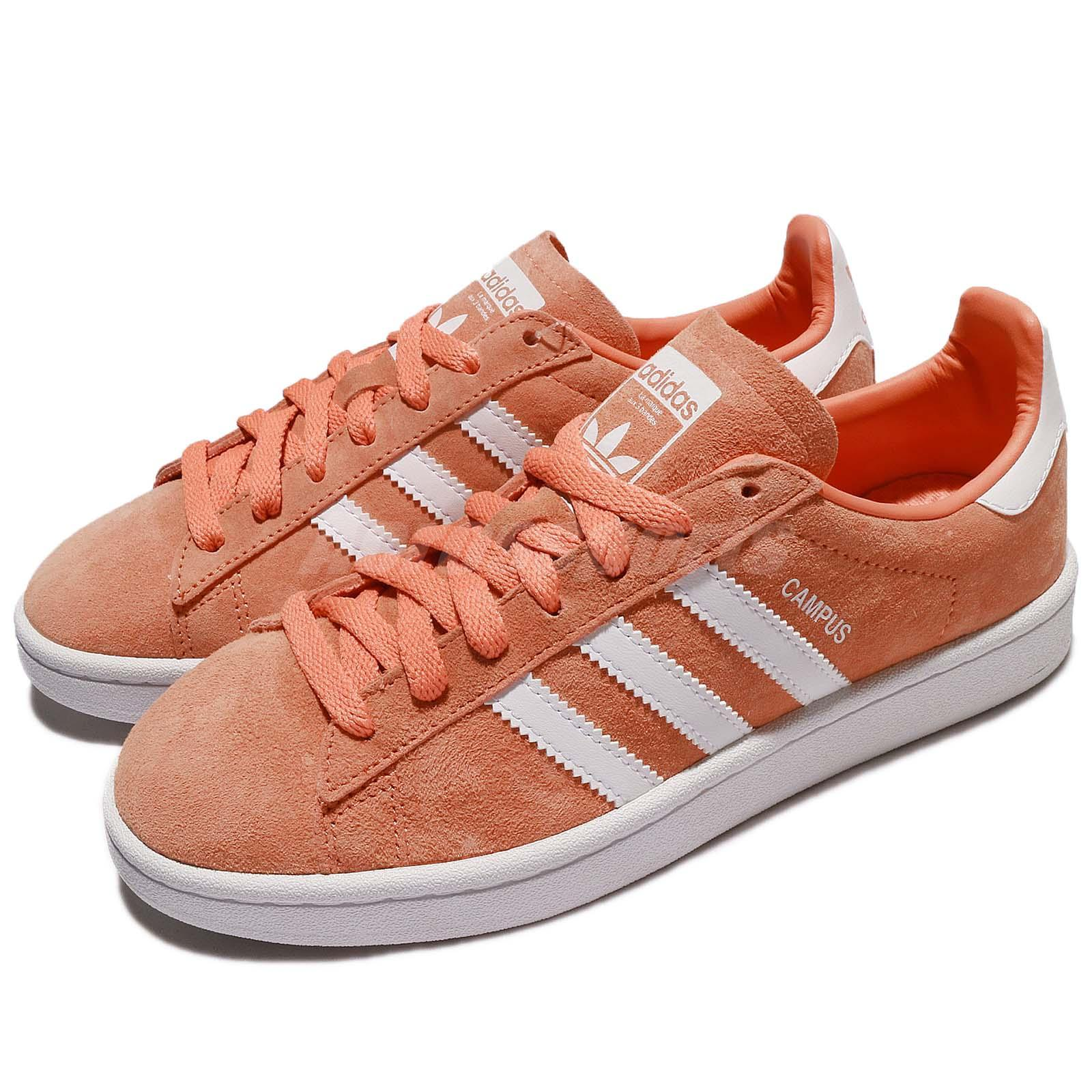 dc398883648a4c adidas Originals Campus Nubuck Orange White Men Women Shoes Sneakers ...