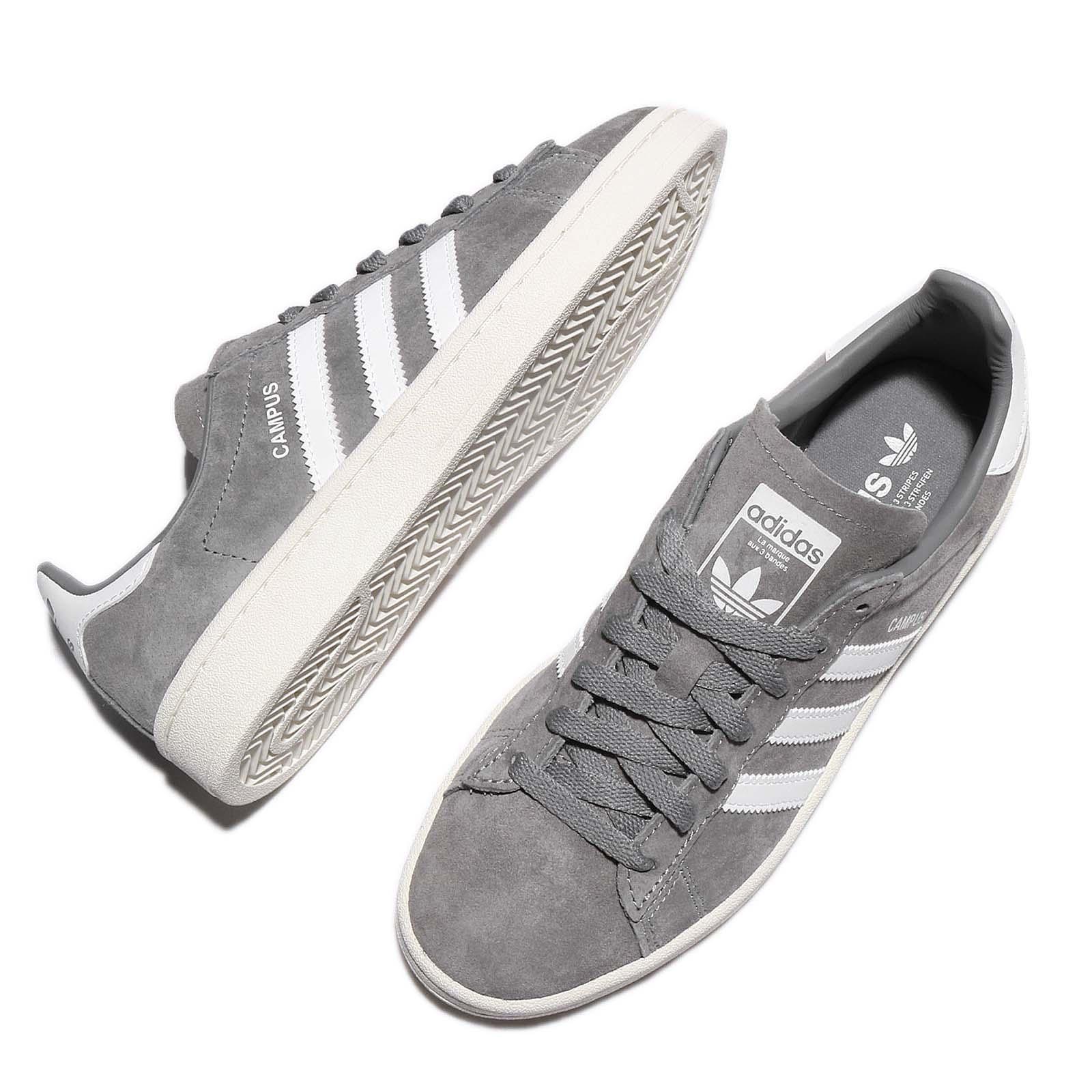 buy online e96c9 3425a adidas Originals Campus Suede Grey White Ivory Retro Men Shoes ...
