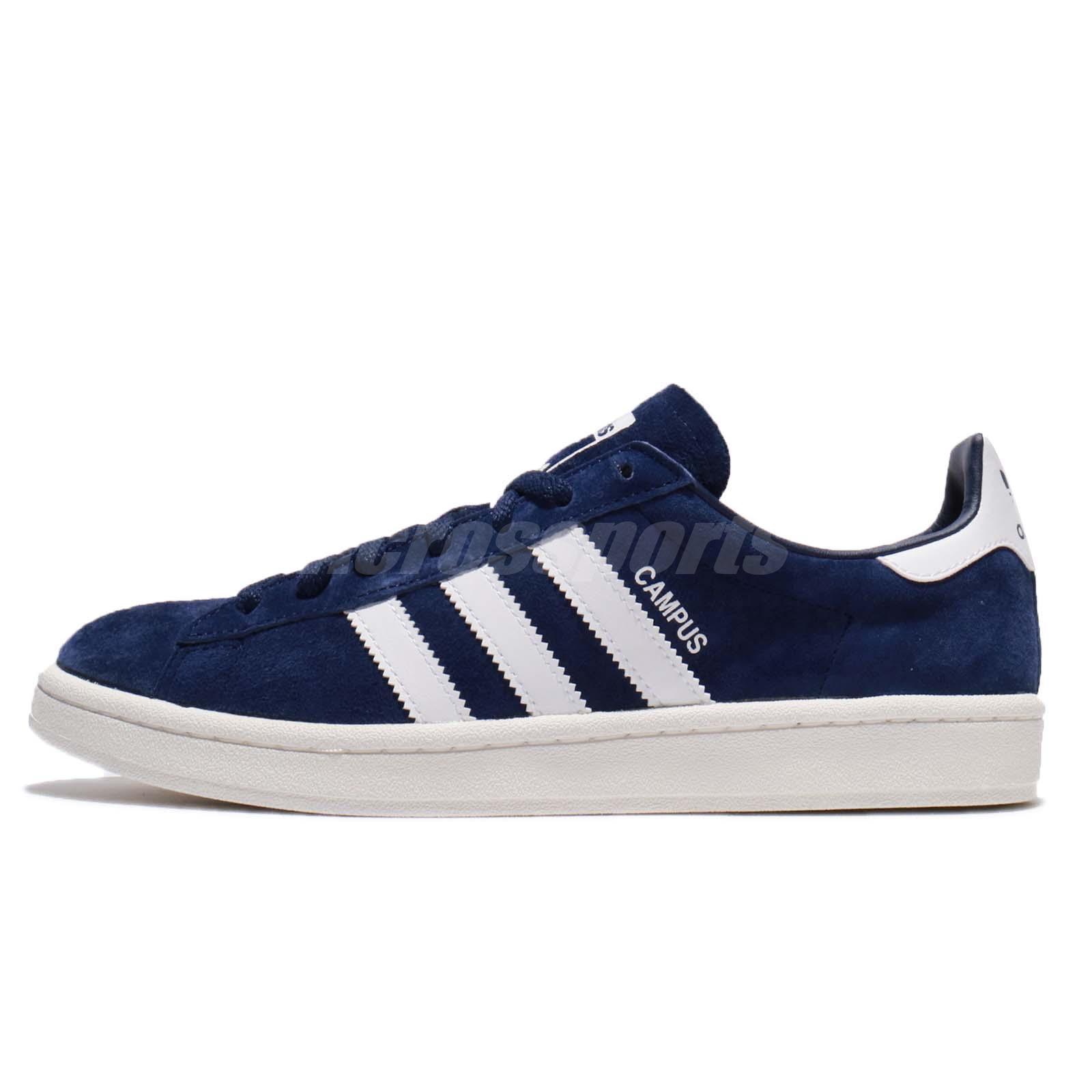 sports shoes ce958 20ac9 adidas Originals Campus Suede Dark Blue White Navy Men Classic Shoes BZ0086