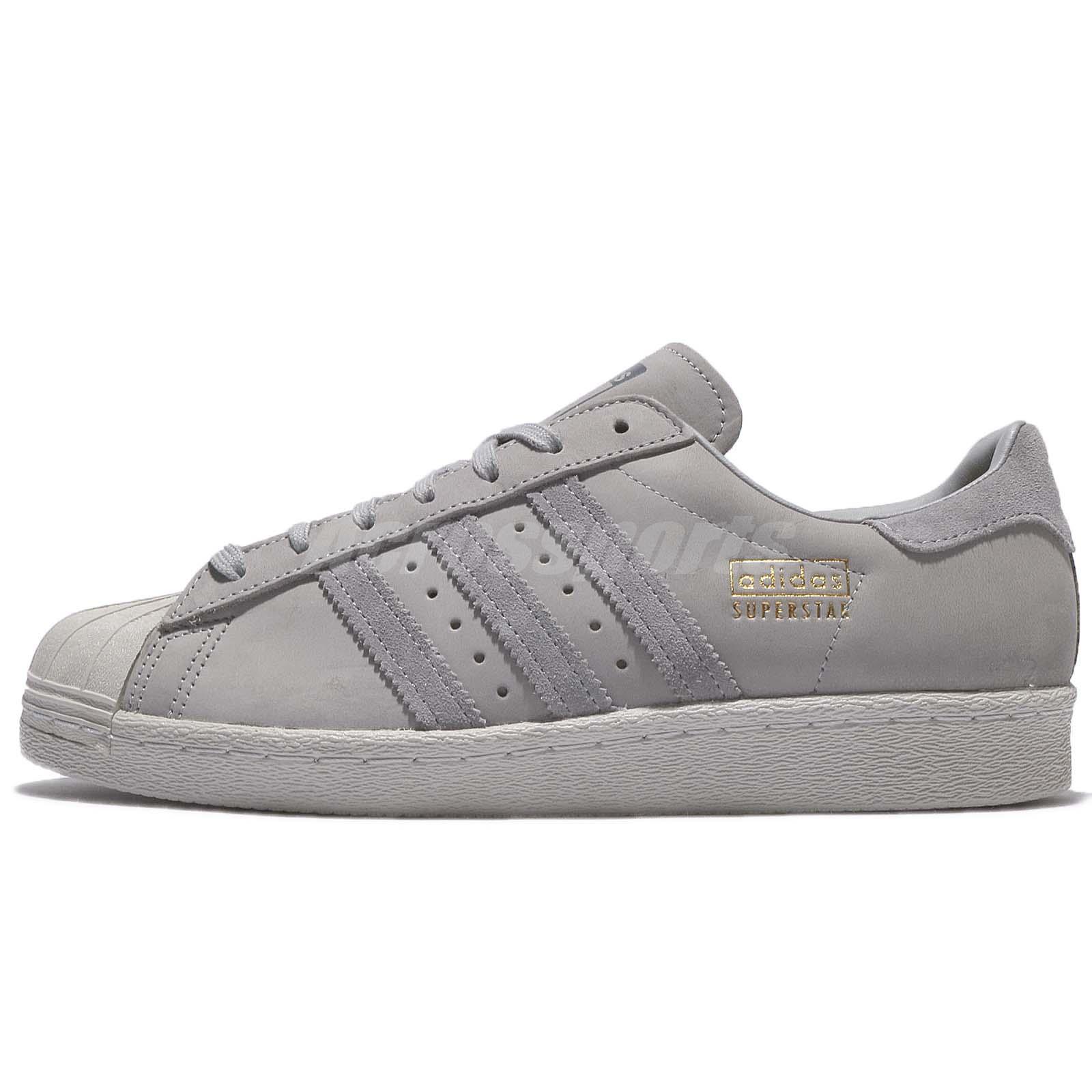 adidas Originals Superstar 80s Mid Grey Leather Men Shoes Sneaker Trainer  BZ0208