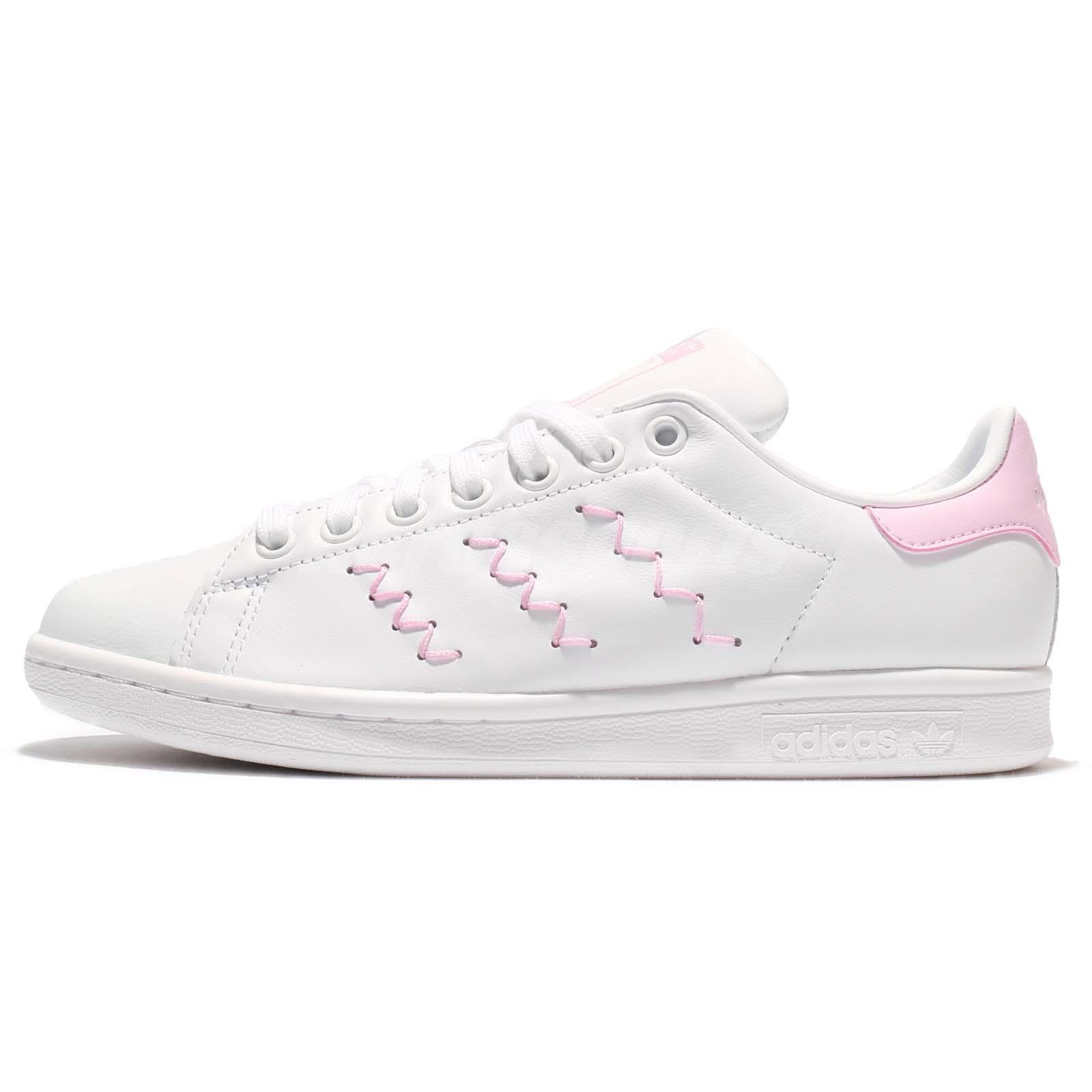 adidas Originals Stan Smith W Zig Zag White Pink Leather Women Classic  BZ0401