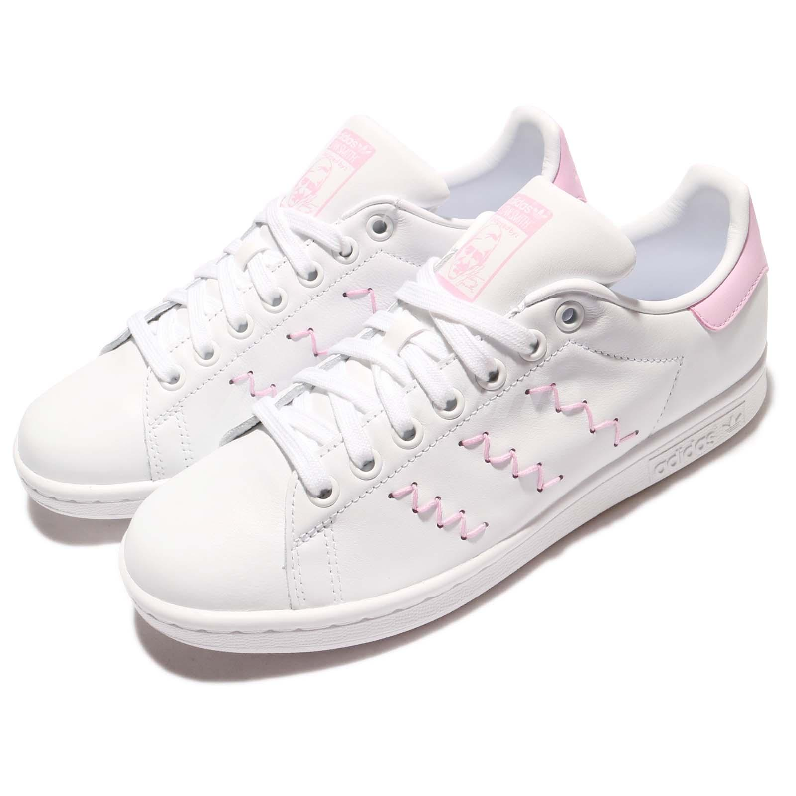 adidas originals stan smith w zig zag white pink leather women classic bz0401 ebay. Black Bedroom Furniture Sets. Home Design Ideas